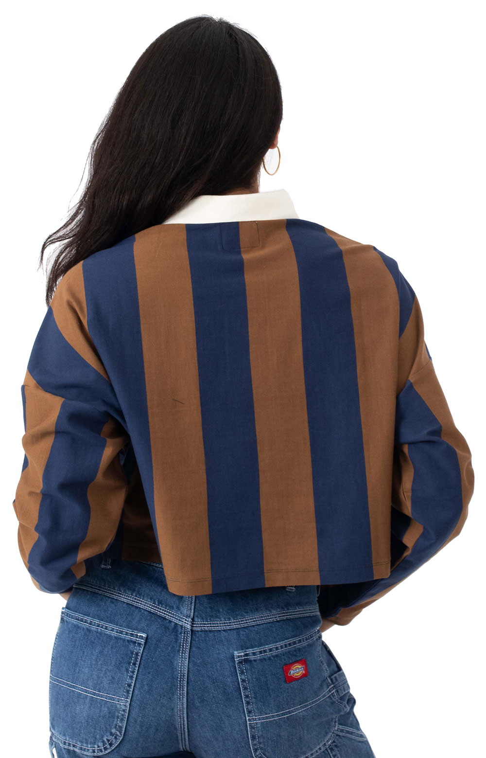 Marka Crop L/S Polo - Toffee 3