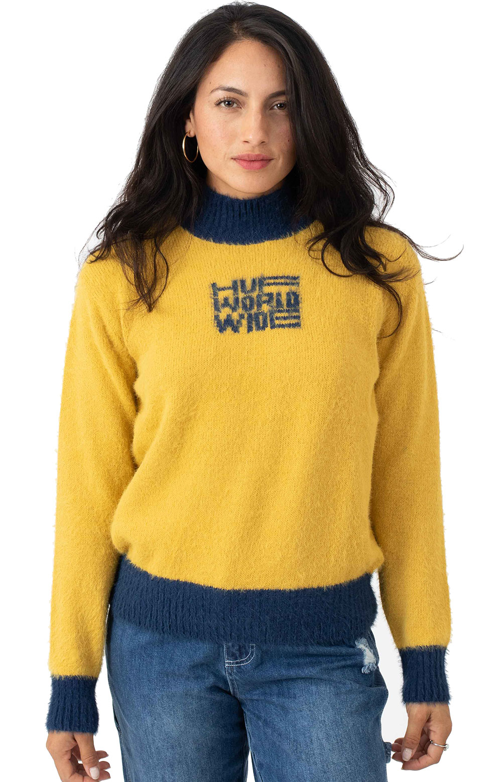 Disorder Jacquared Knit Sweater - Gold