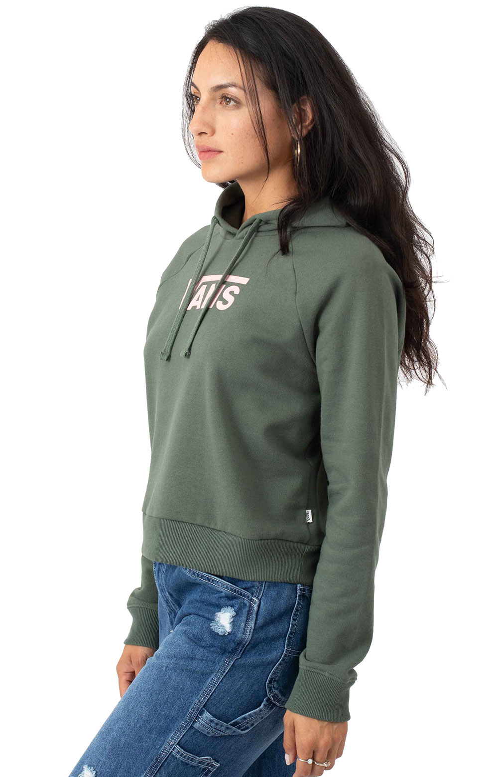 Flying V Boxy Pullover Hoodie - Thyme 2