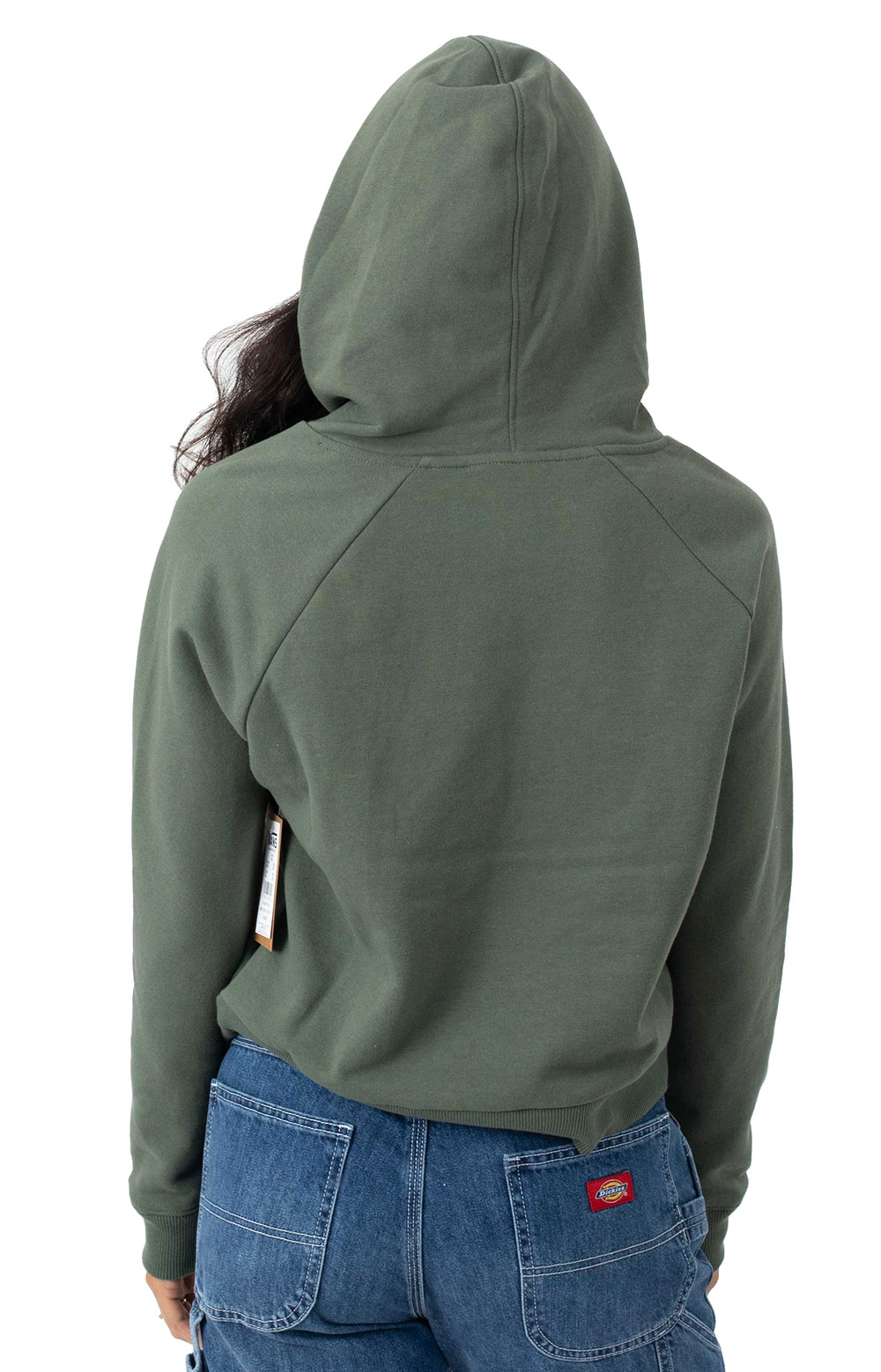 Flying V Boxy Pullover Hoodie - Thyme 3
