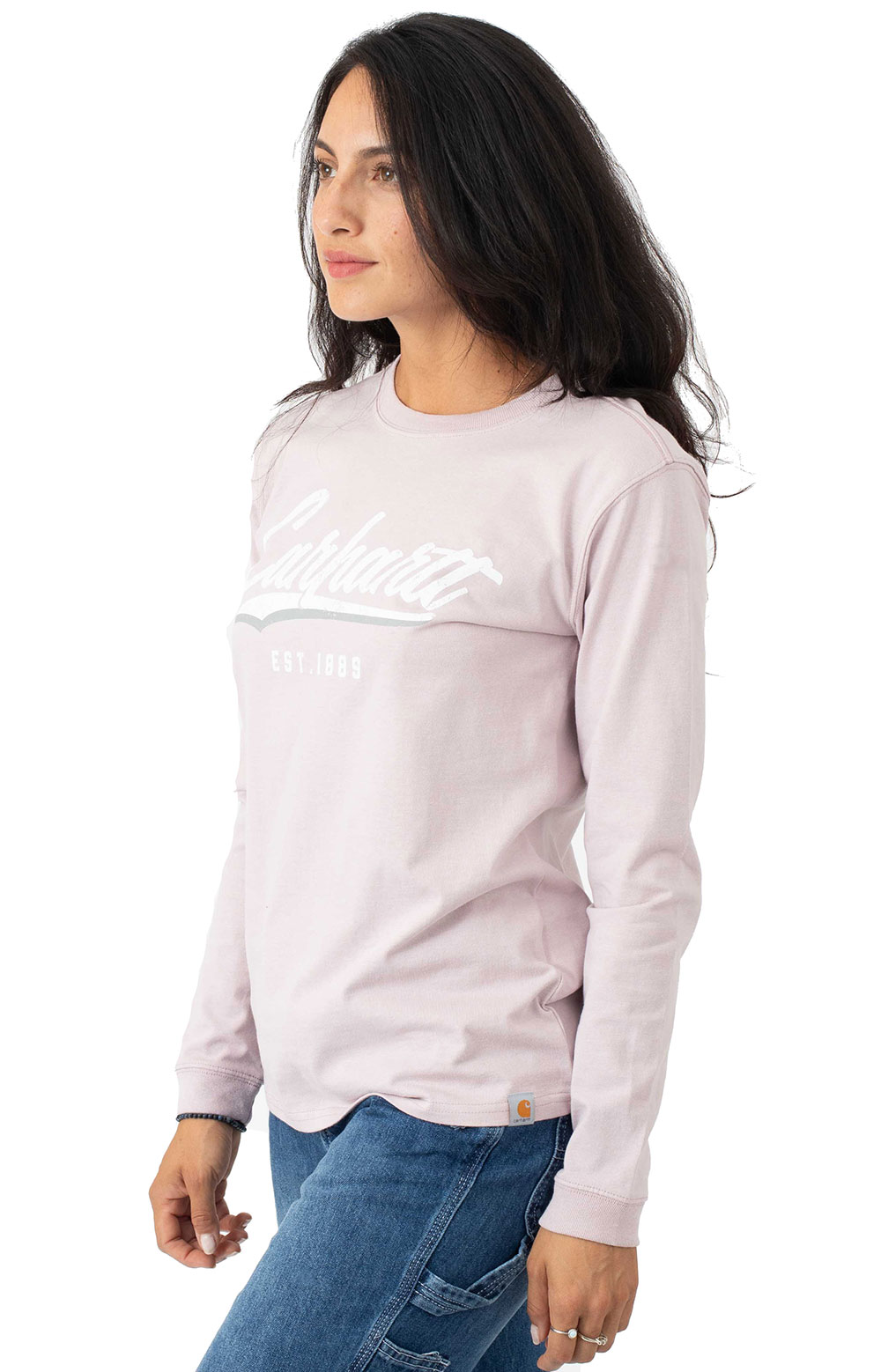 (104964) L/F Heavyweight L/S Hand-Painted Graphic T-Shirt - Dusk Purple 2