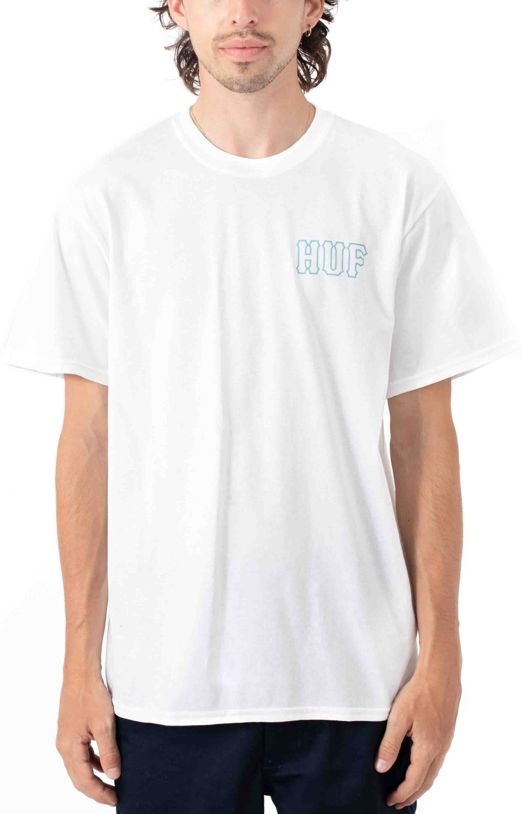 Barb Wire Classic H T-Shirt - White  2