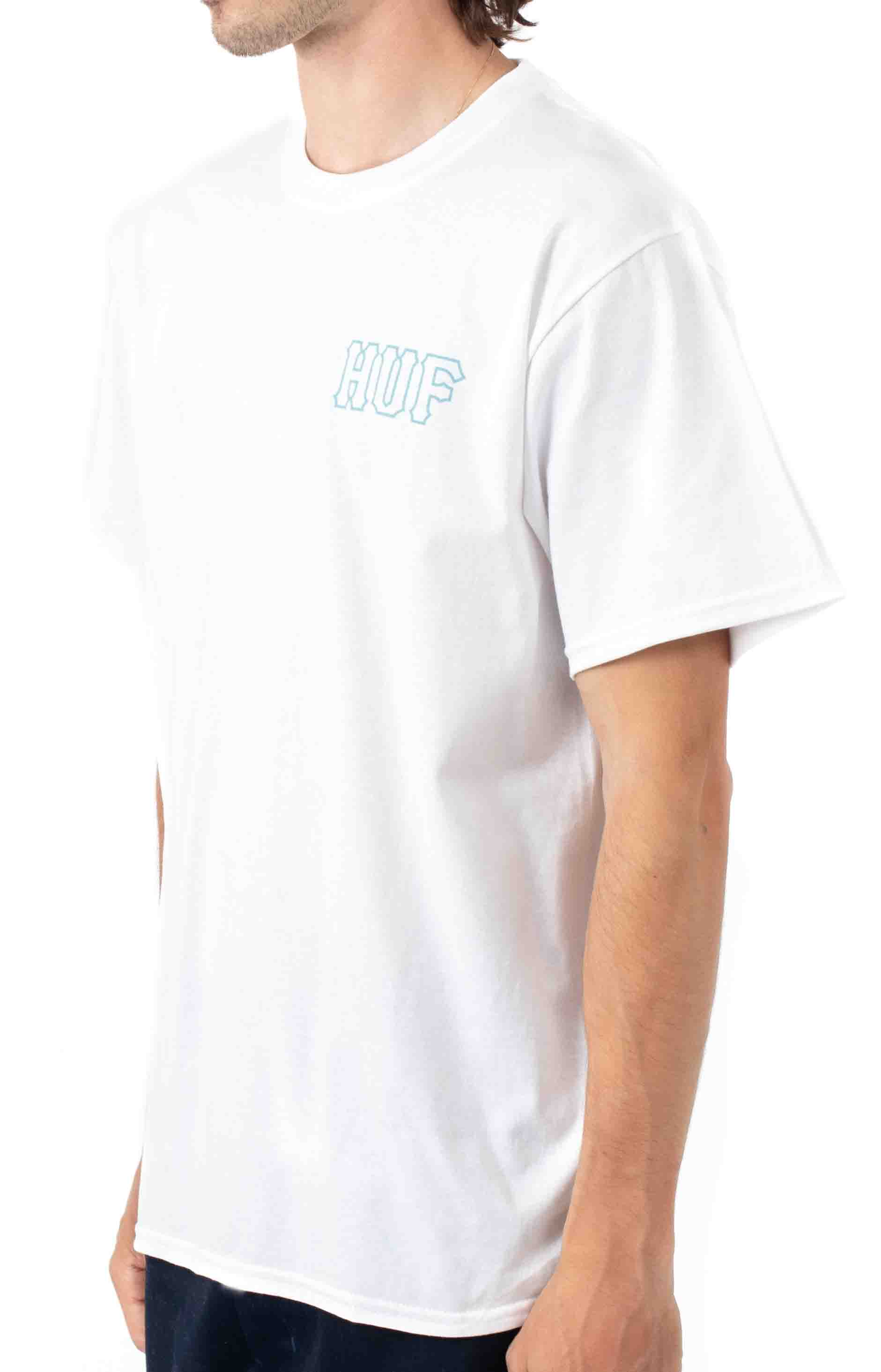 Barb Wire Classic H T-Shirt - White  3