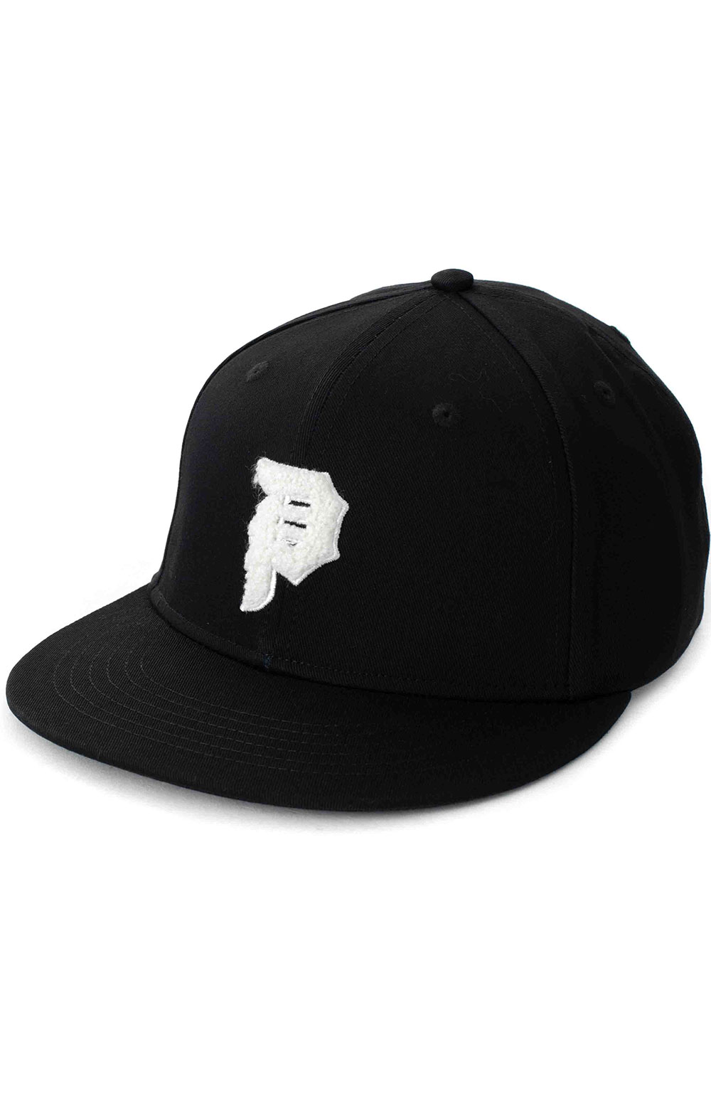 Dirty P Chenille Snap-Back Hat - Black