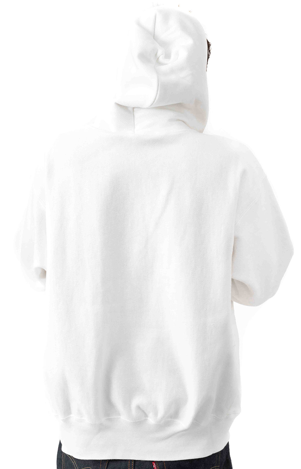 Reverse Weave Pullover Hoodie - White 3