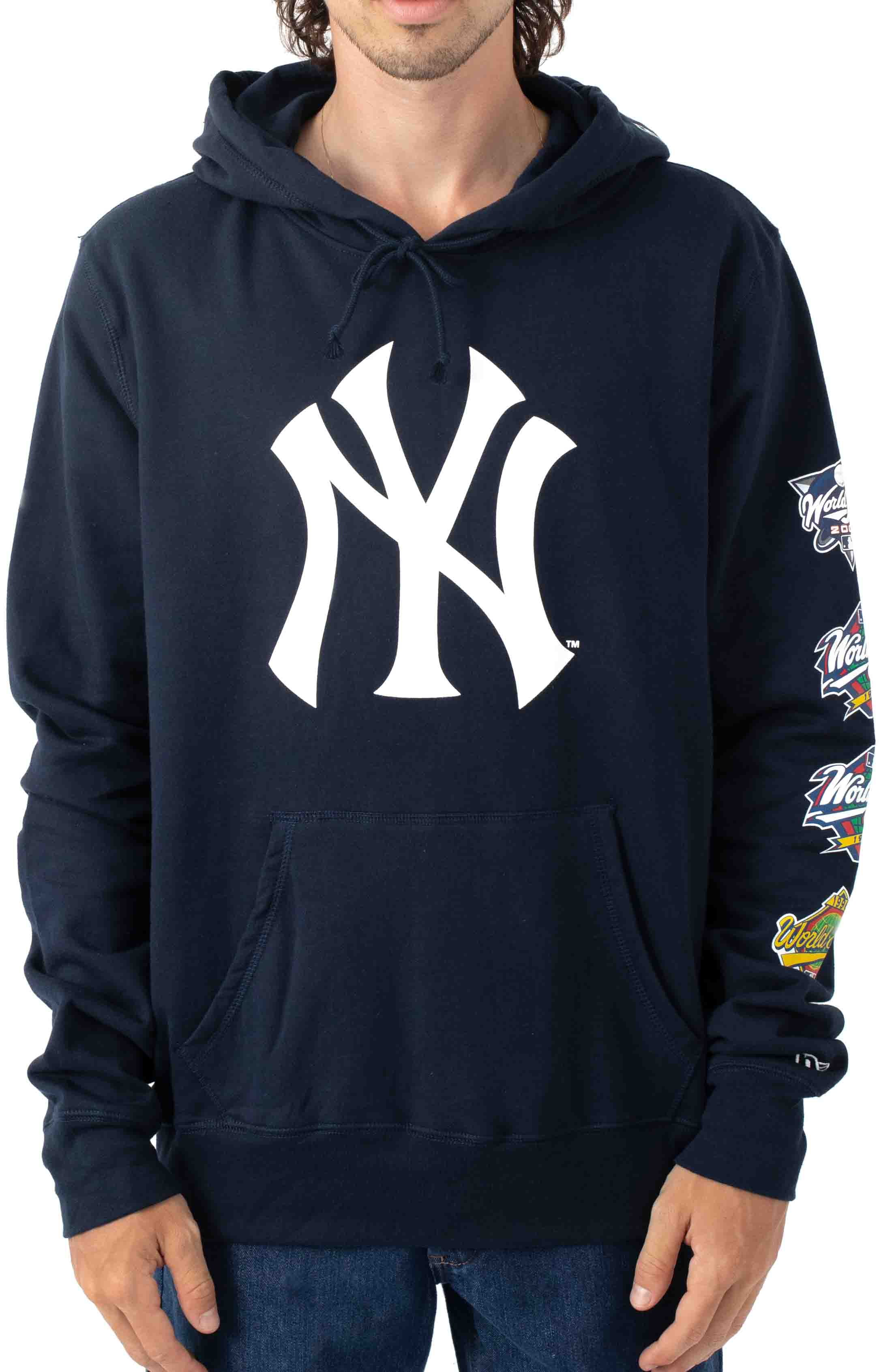 NY Yankees World Champions Pullover Hoodie - Navy