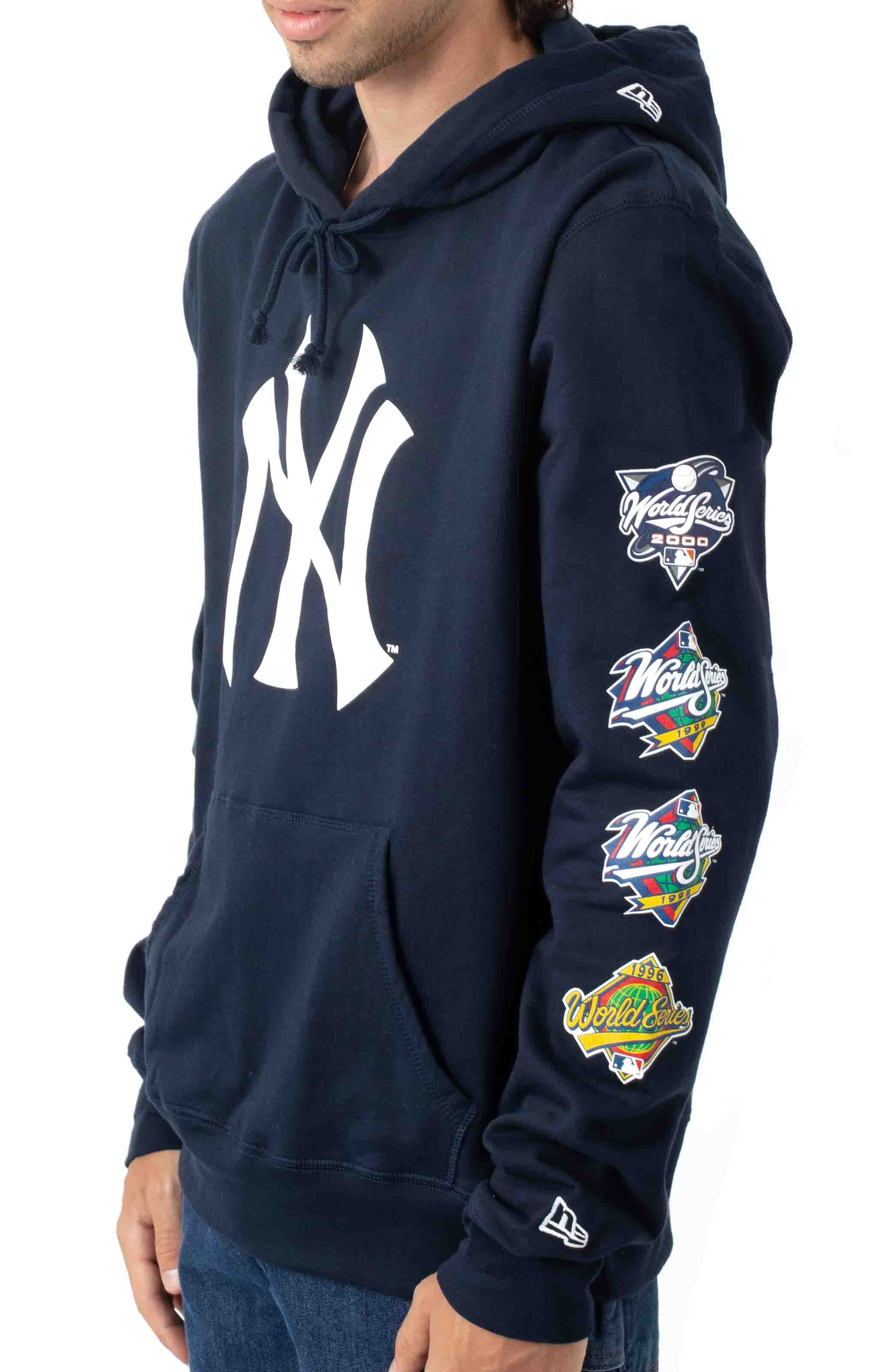NY Yankees World Champions Pullover Hoodie - Navy 2
