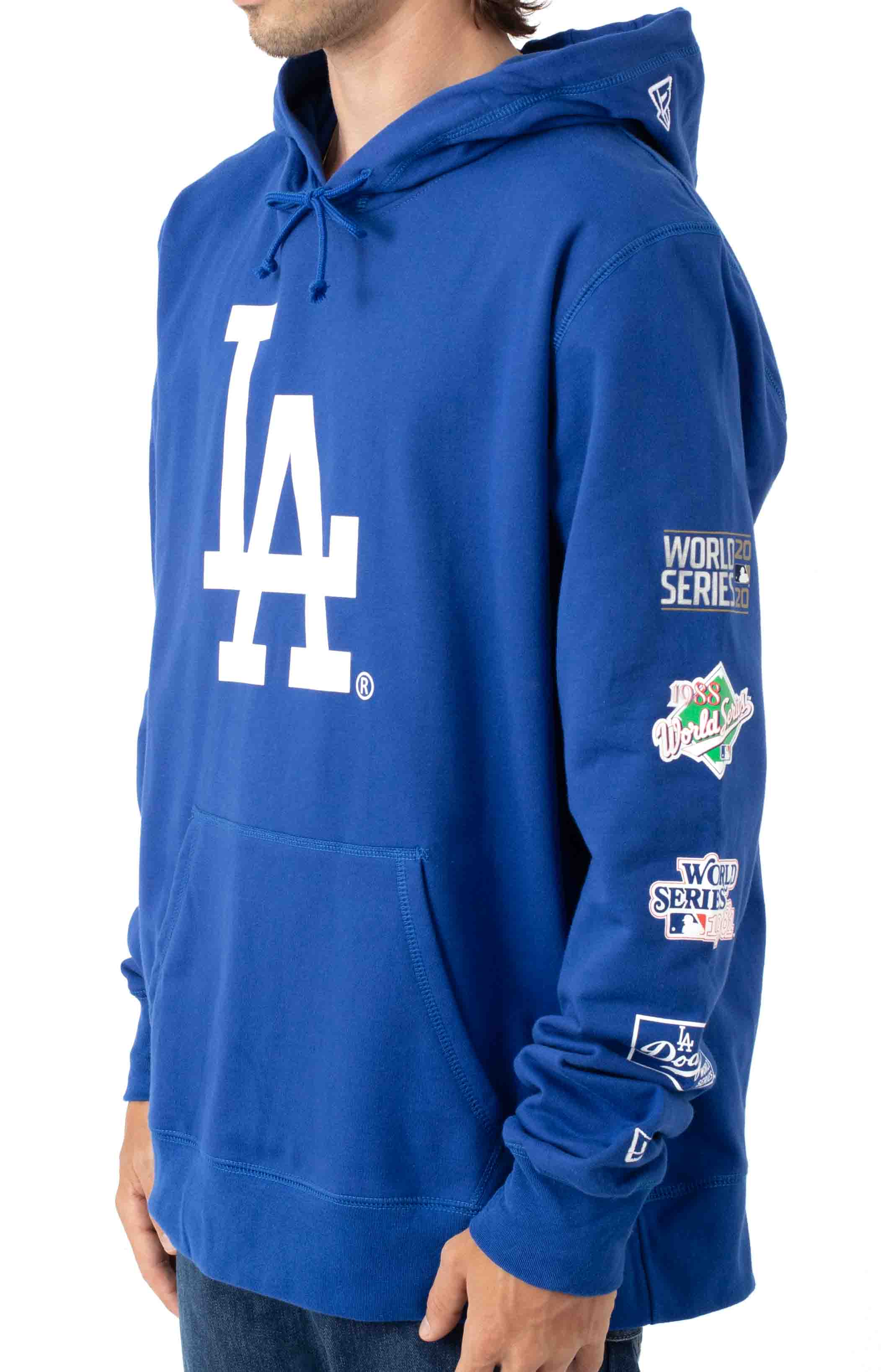 LA Dodgers World Chamoions Pullover Hoodie - Royal Blue  2
