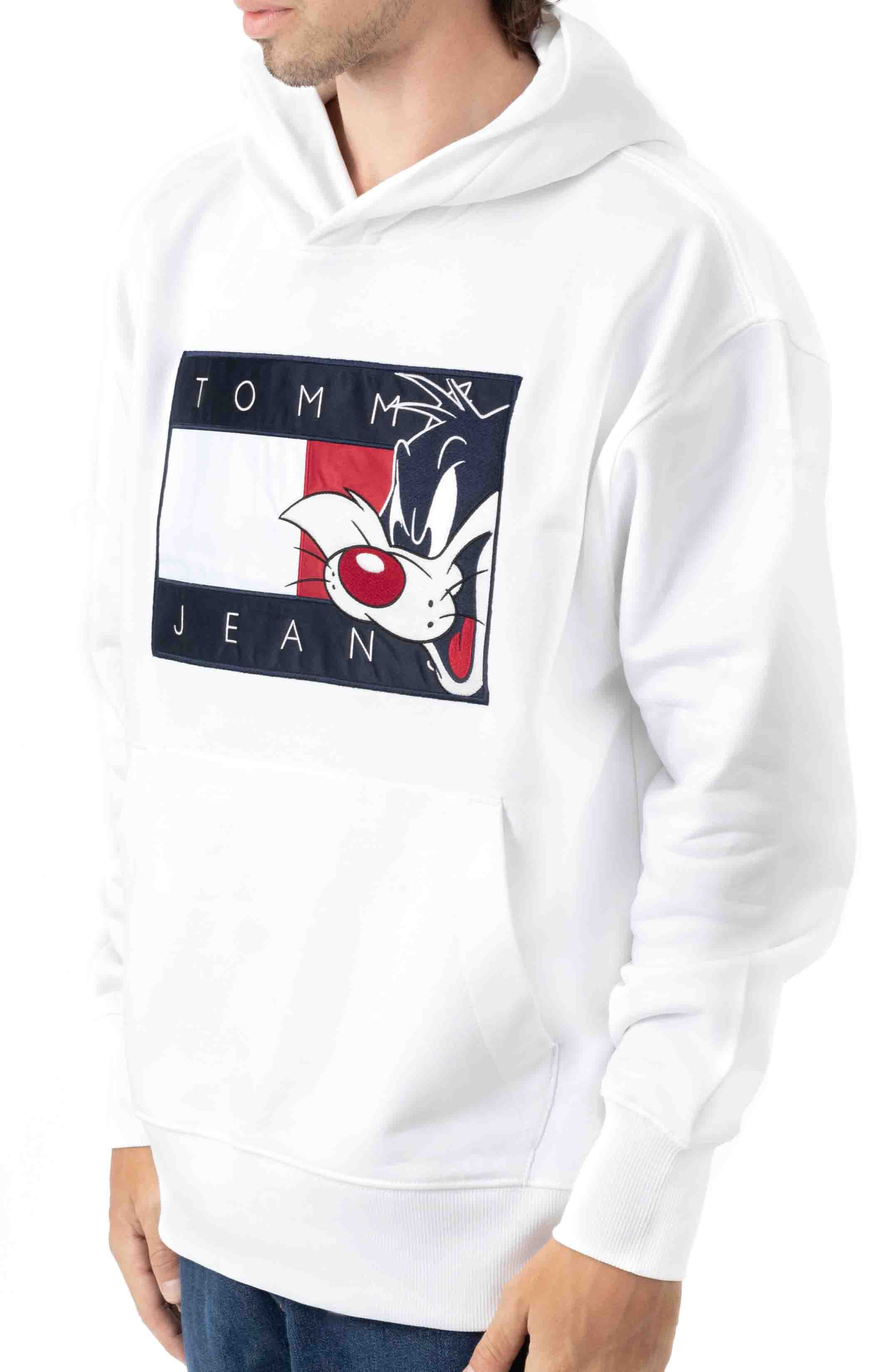 Looney Pullover Hoodie - Bright White  2