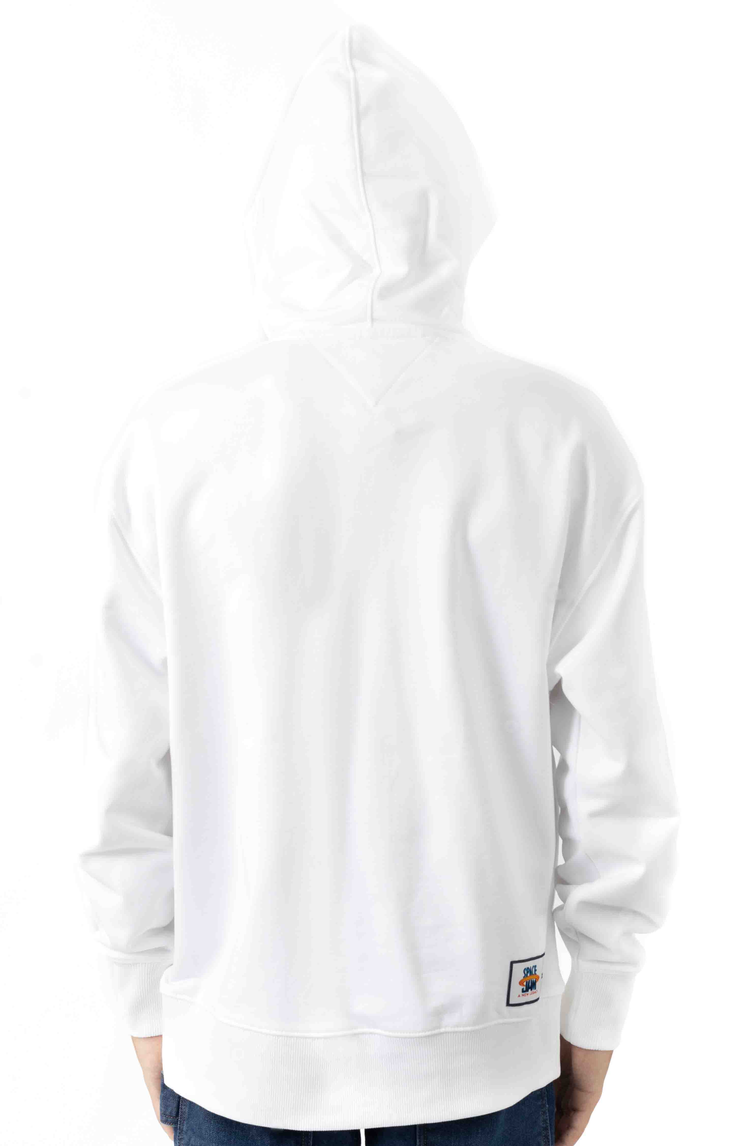 Looney Pullover Hoodie - Bright White  3