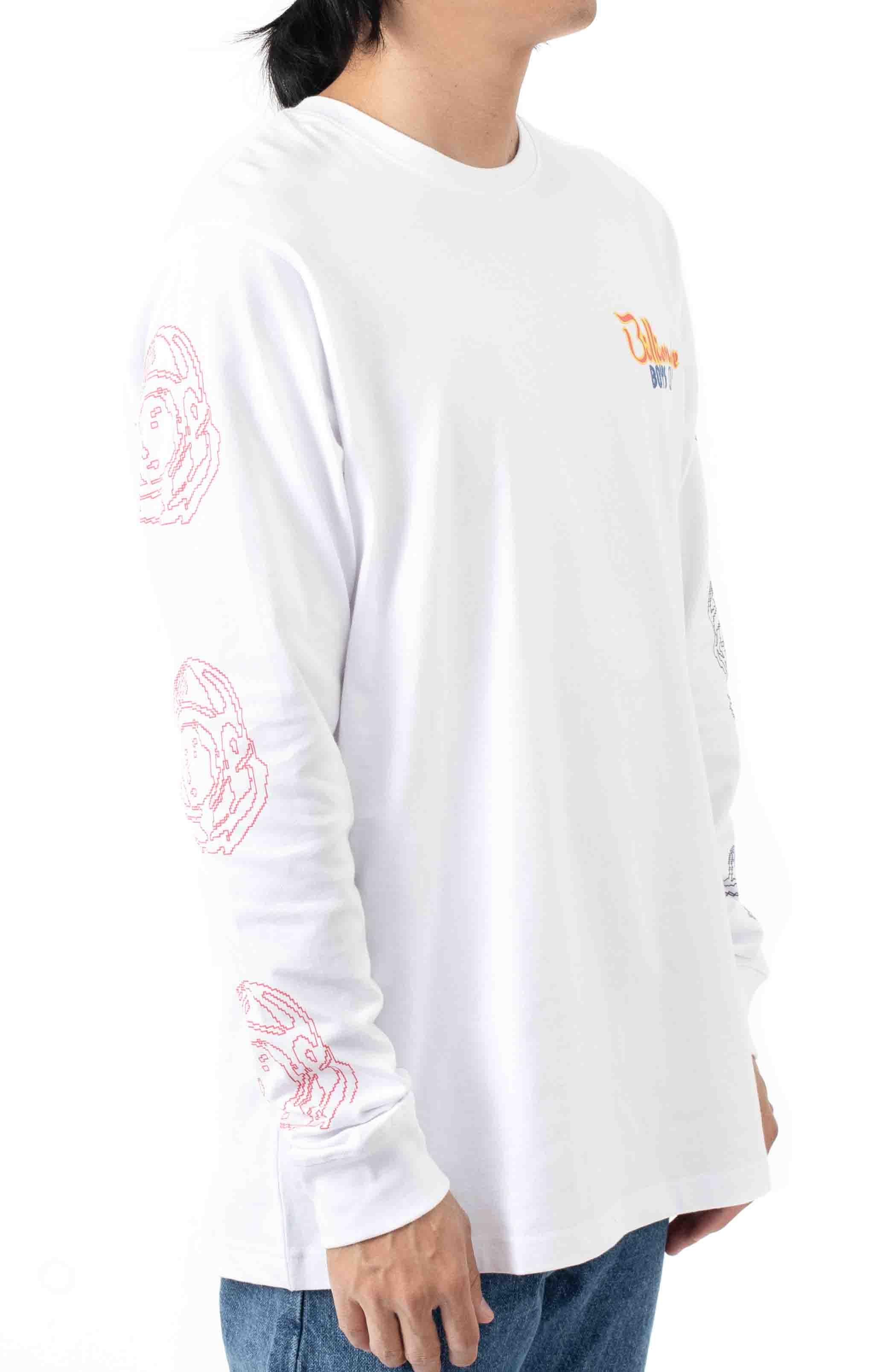 Heart and Mind L/S Shirt - White  4