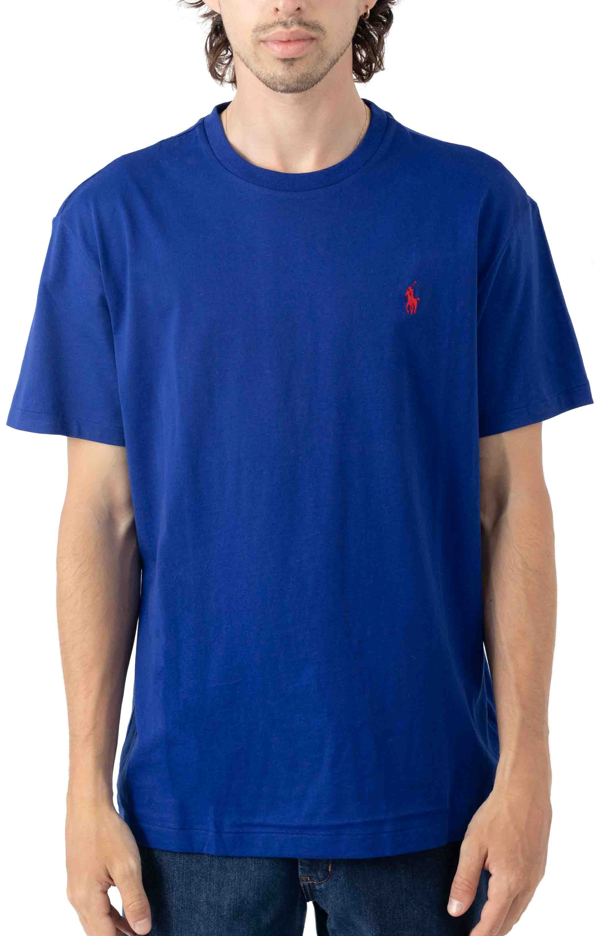 Classic Solid Crewneck T-Shirt - Heritage Royal/Red