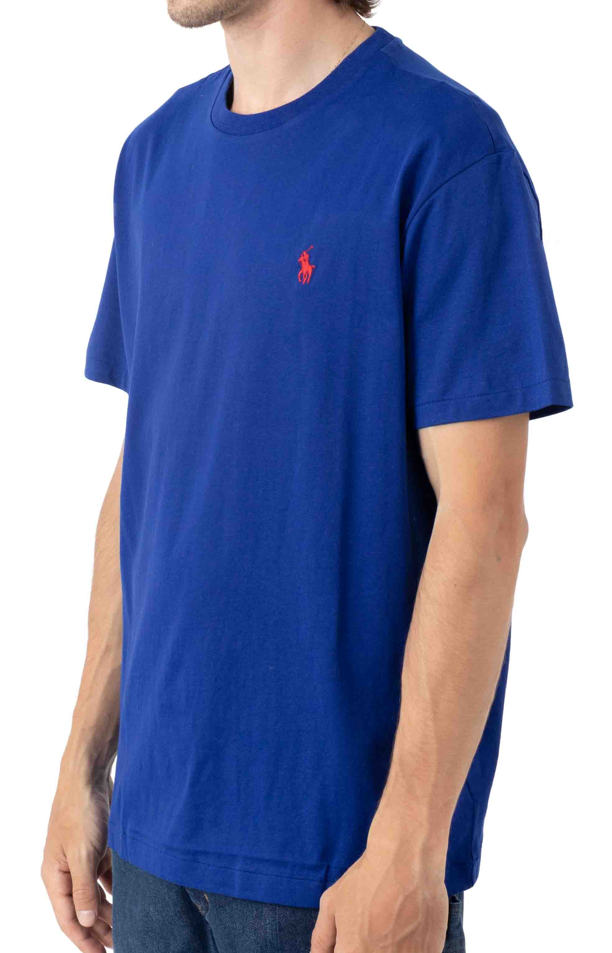 Classic Solid Crewneck T-Shirt - Heritage Royal/Red 2