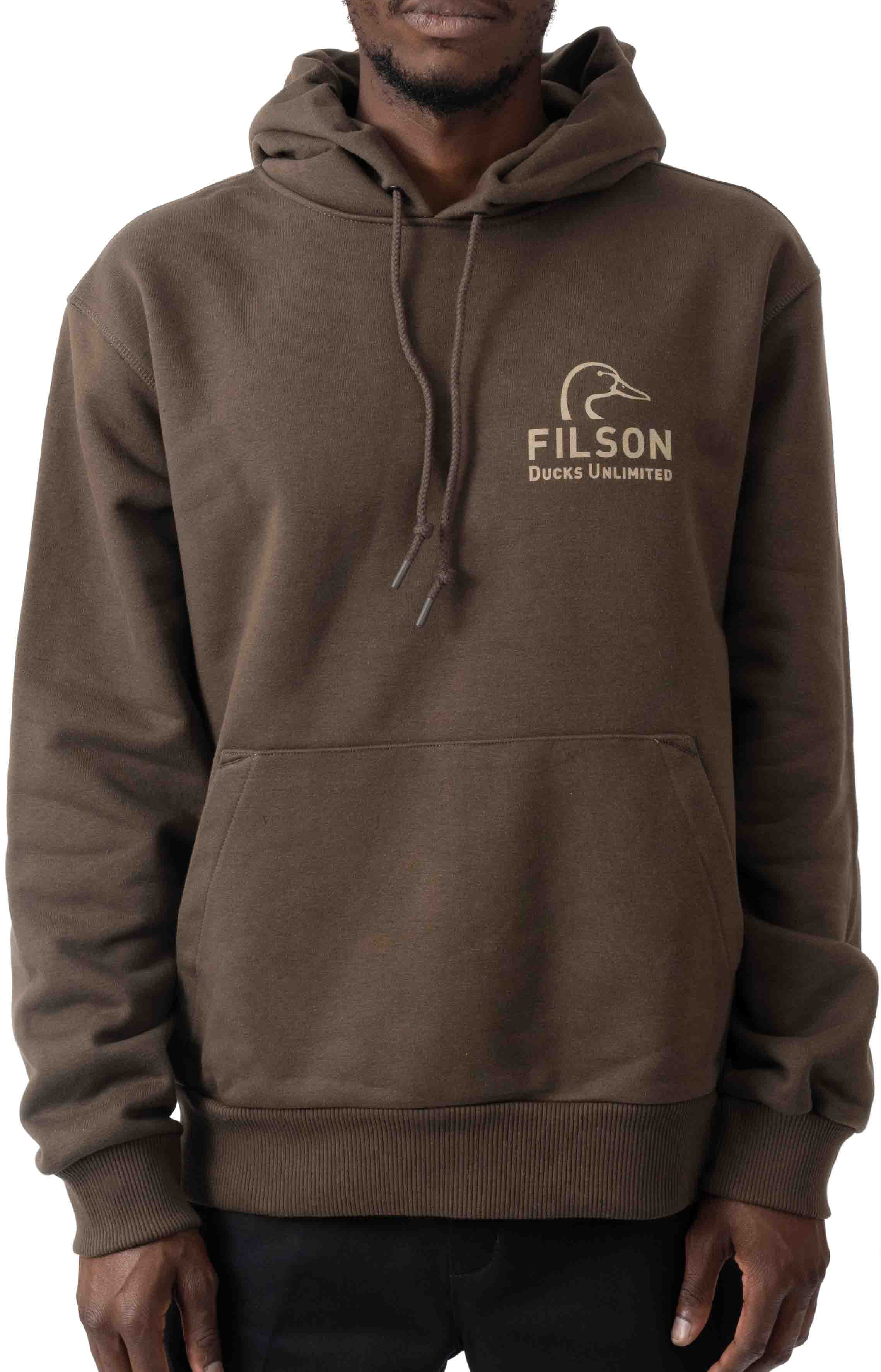 Ducks Unlimited Prospector Graphic Pullover Hoodie - Root/DU Shield