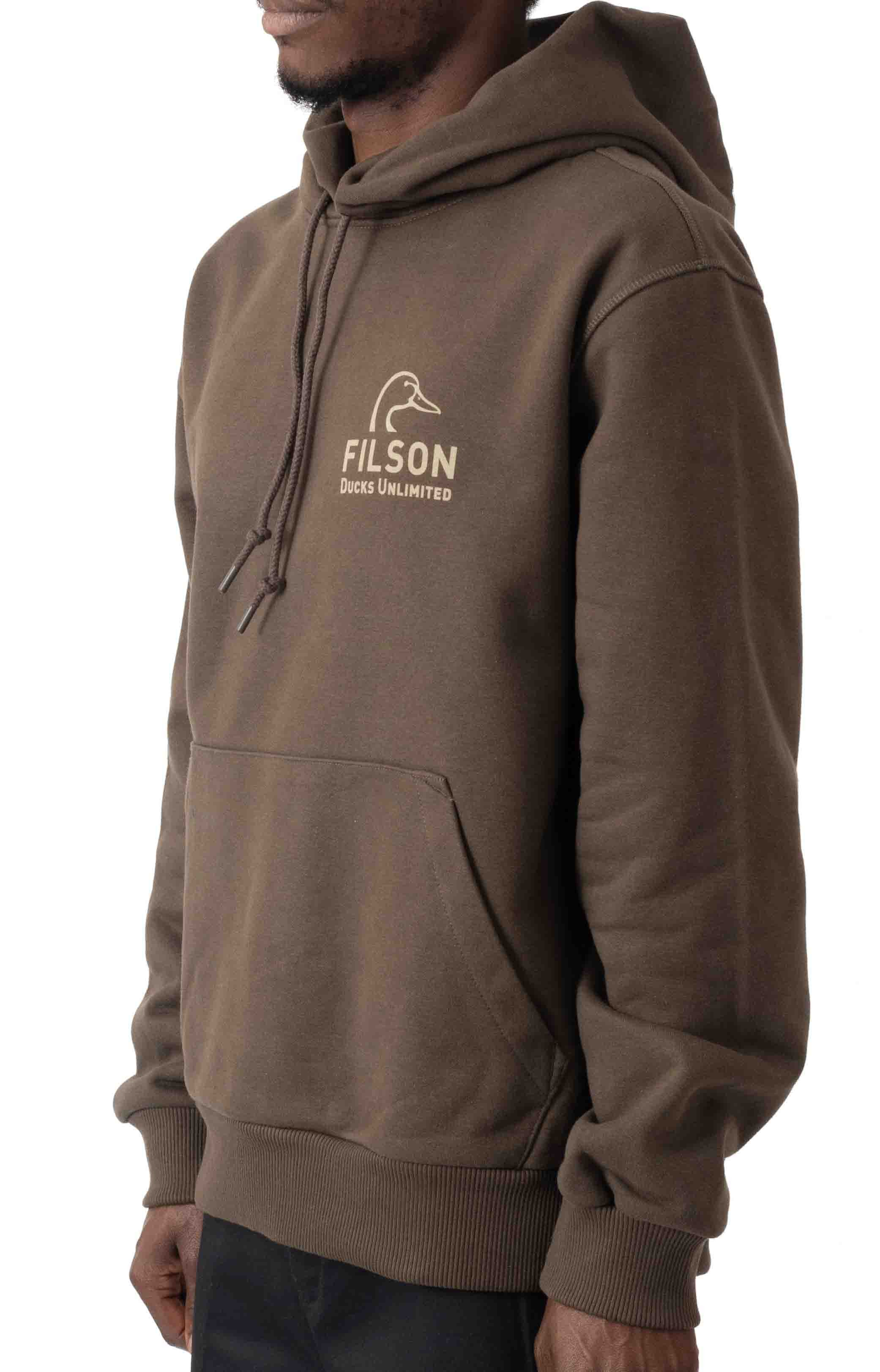 Ducks Unlimited Prospector Graphic Pullover Hoodie - Root/DU Shield  2
