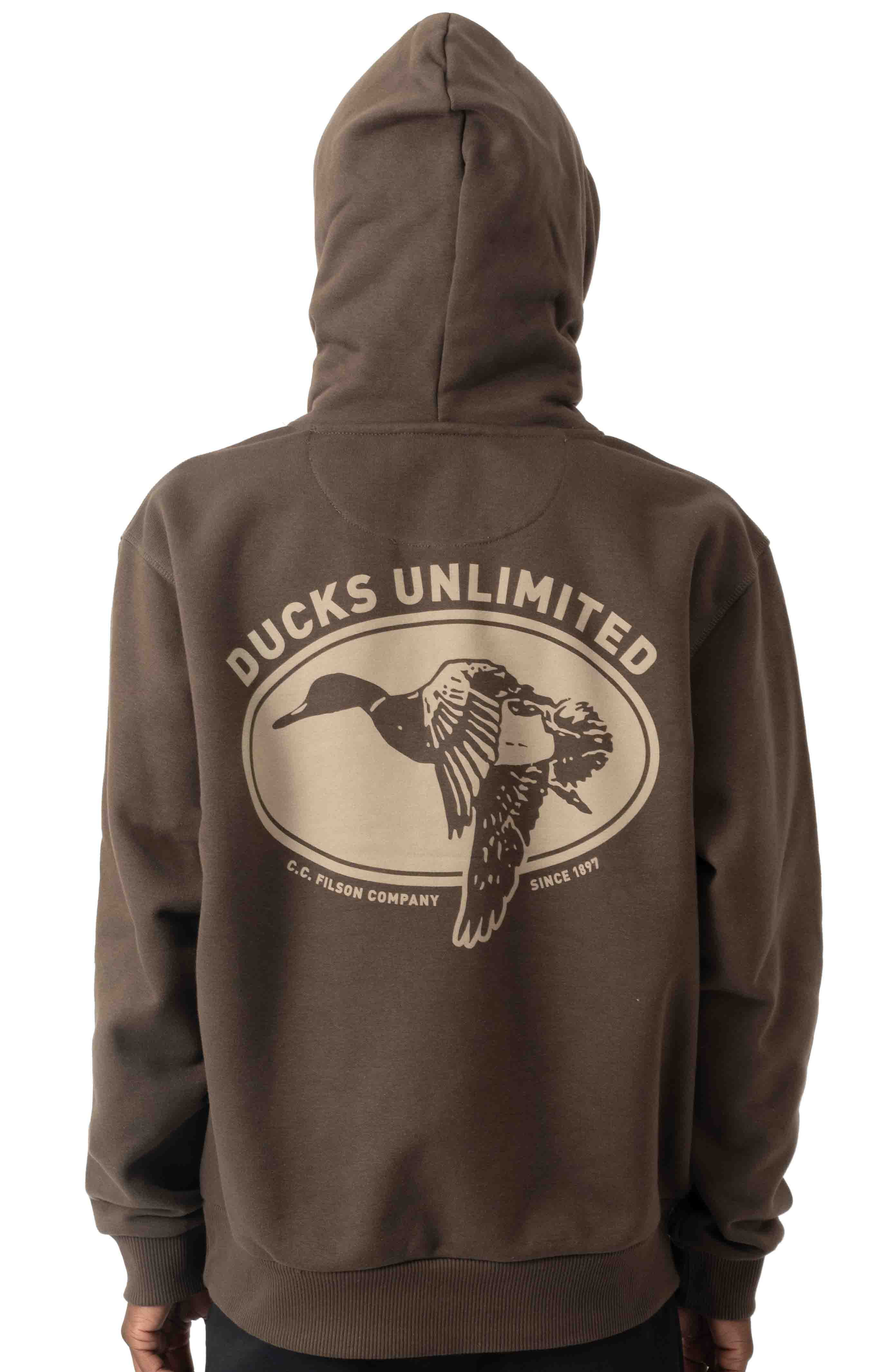 Ducks Unlimited Prospector Graphic Pullover Hoodie - Root/DU Shield  3