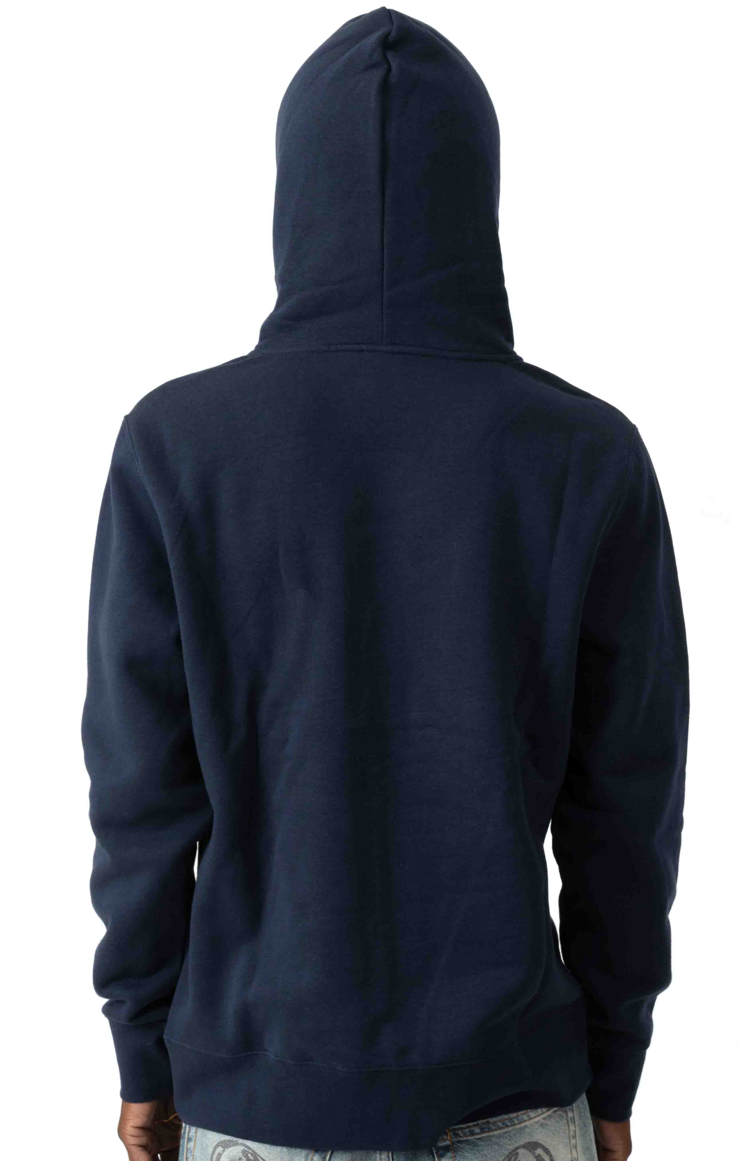 Domestic Box Embroidery Pullover Hoodie - Navy Blazer  3