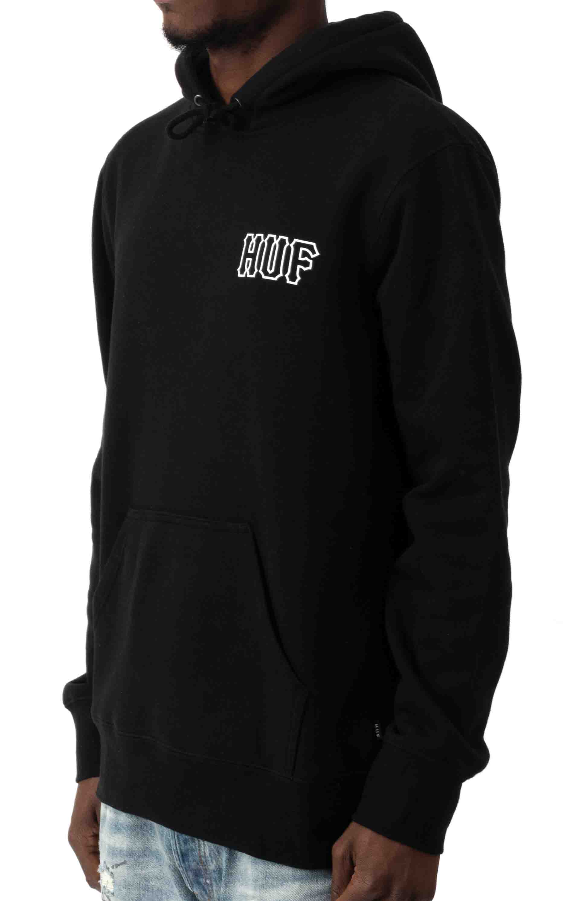 Barb Wire Classic H Pullover Hoodie - Black  2