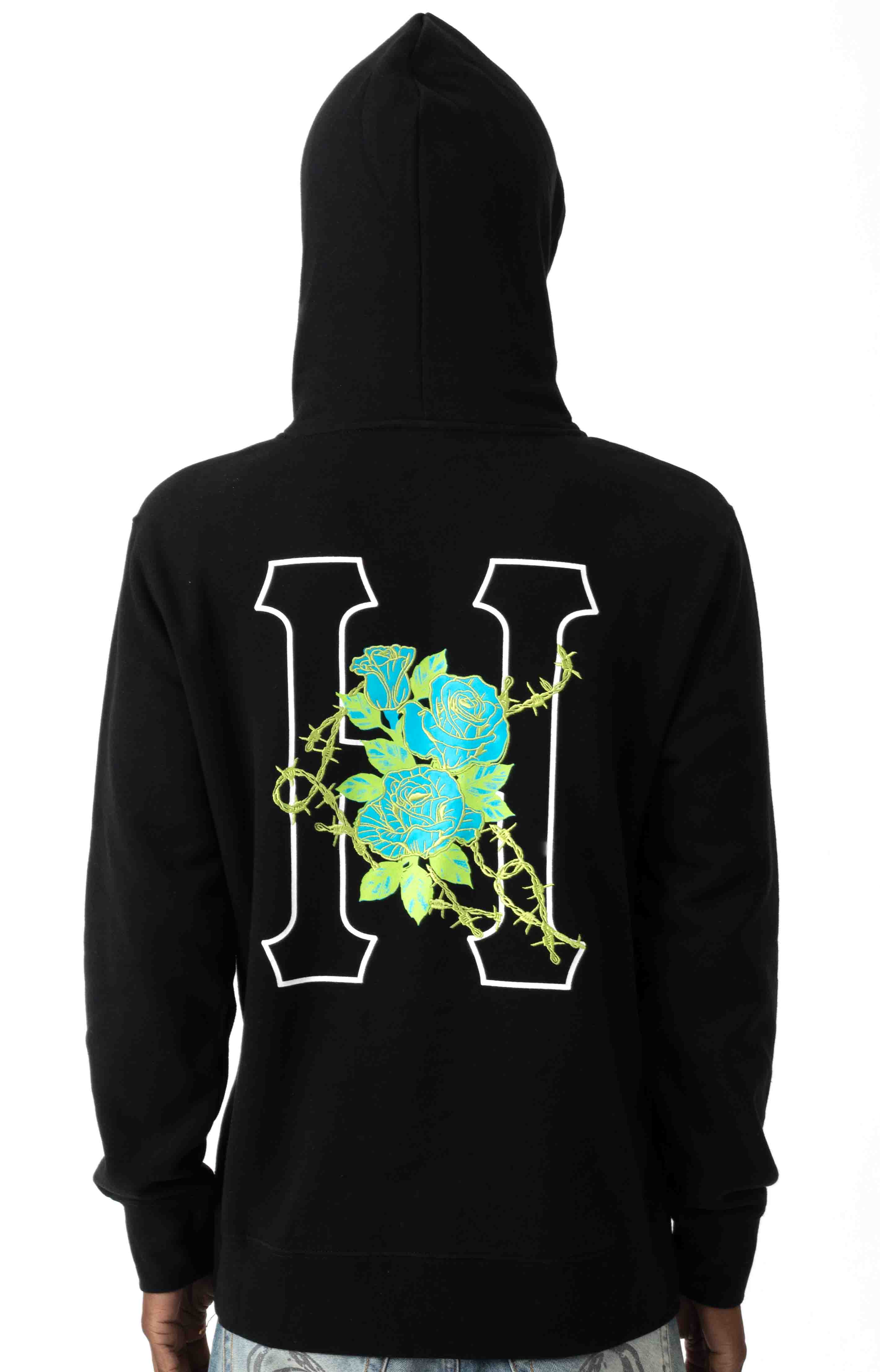 Barb Wire Classic H Pullover Hoodie - Black  3