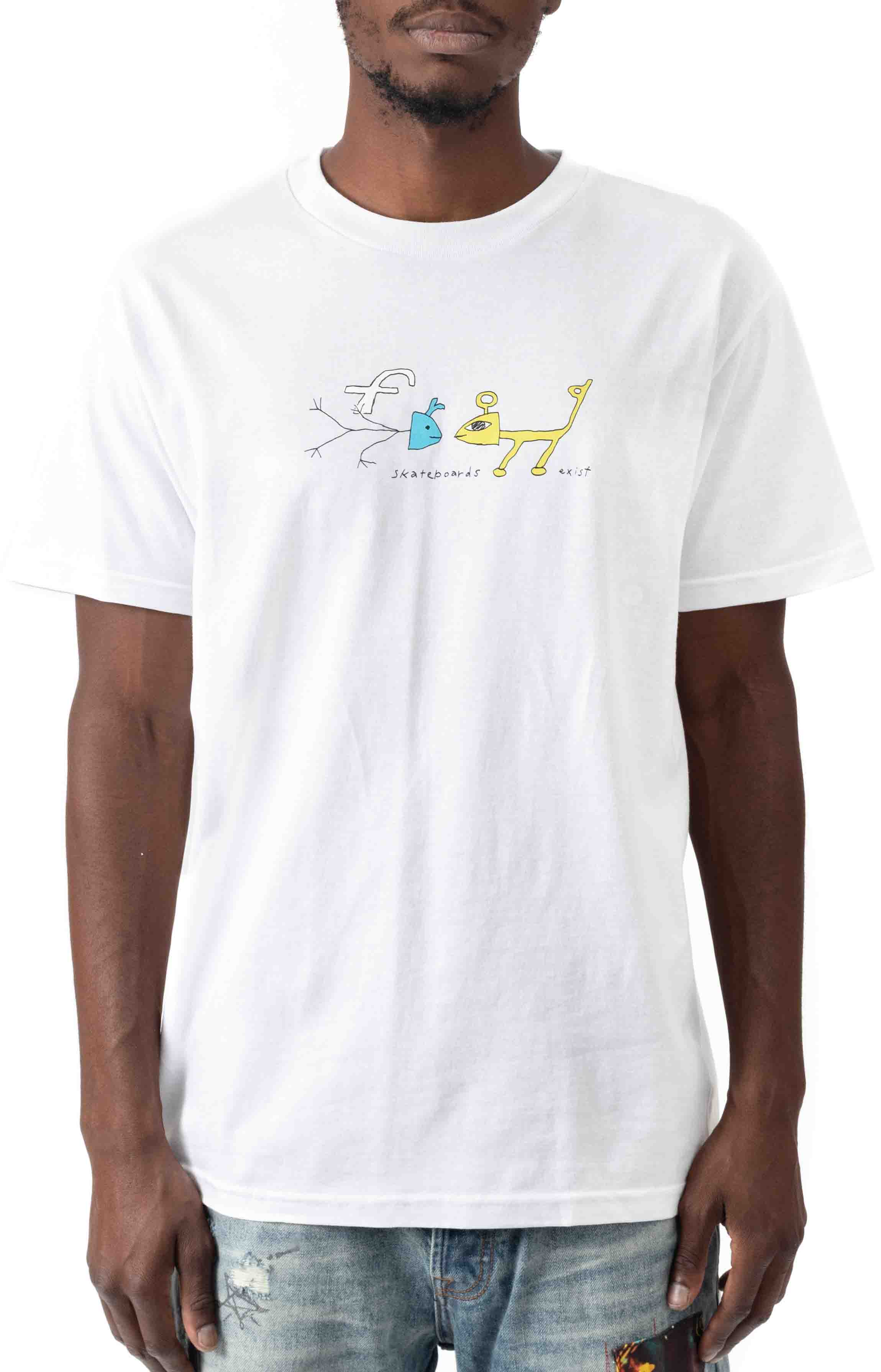 Frog Exists! T-Shirt - White