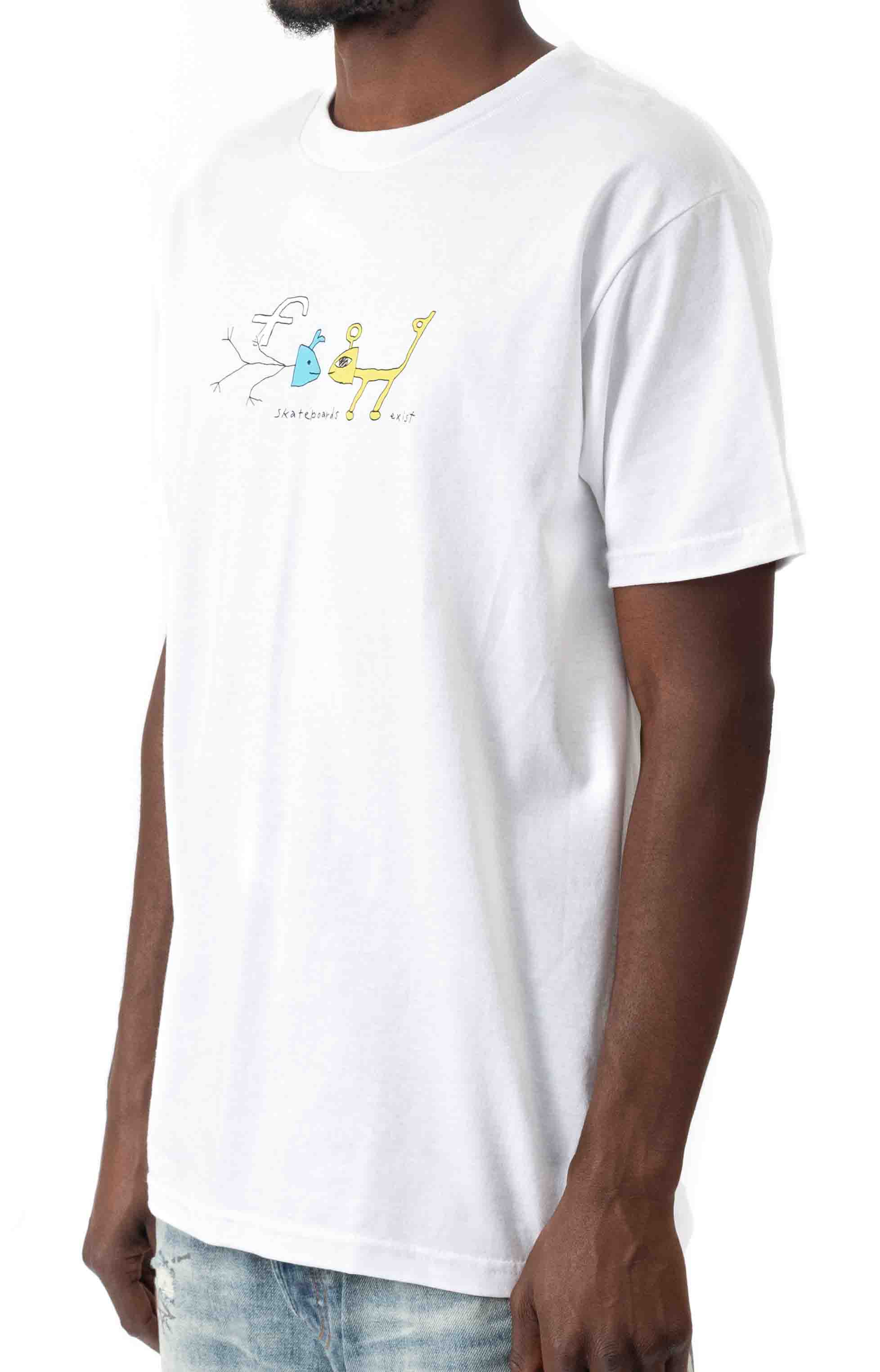 Frog Exists! T-Shirt - White  2