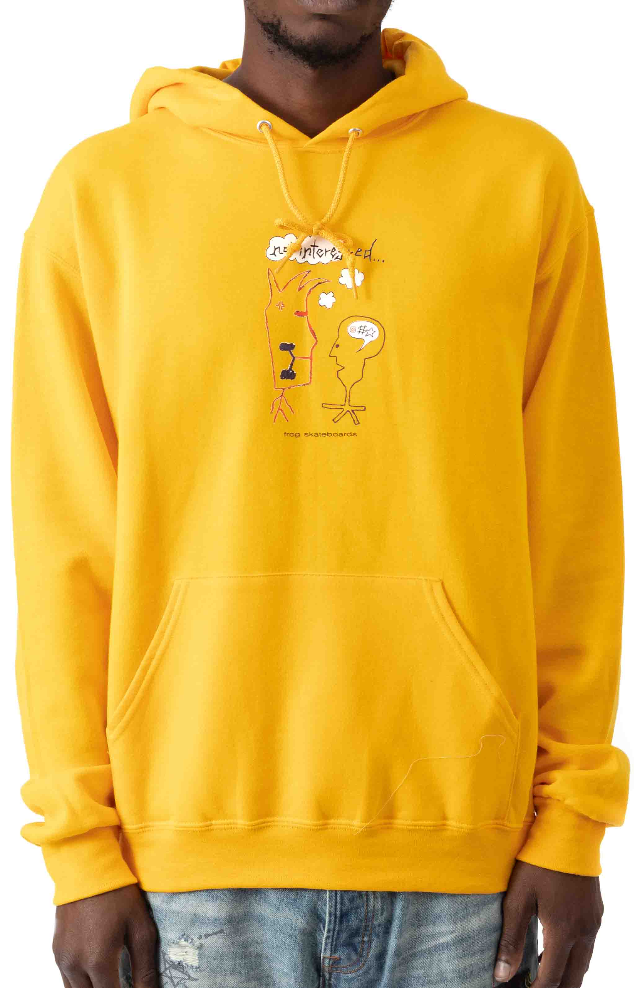 Not Interested Pullover Hoodie - Gold