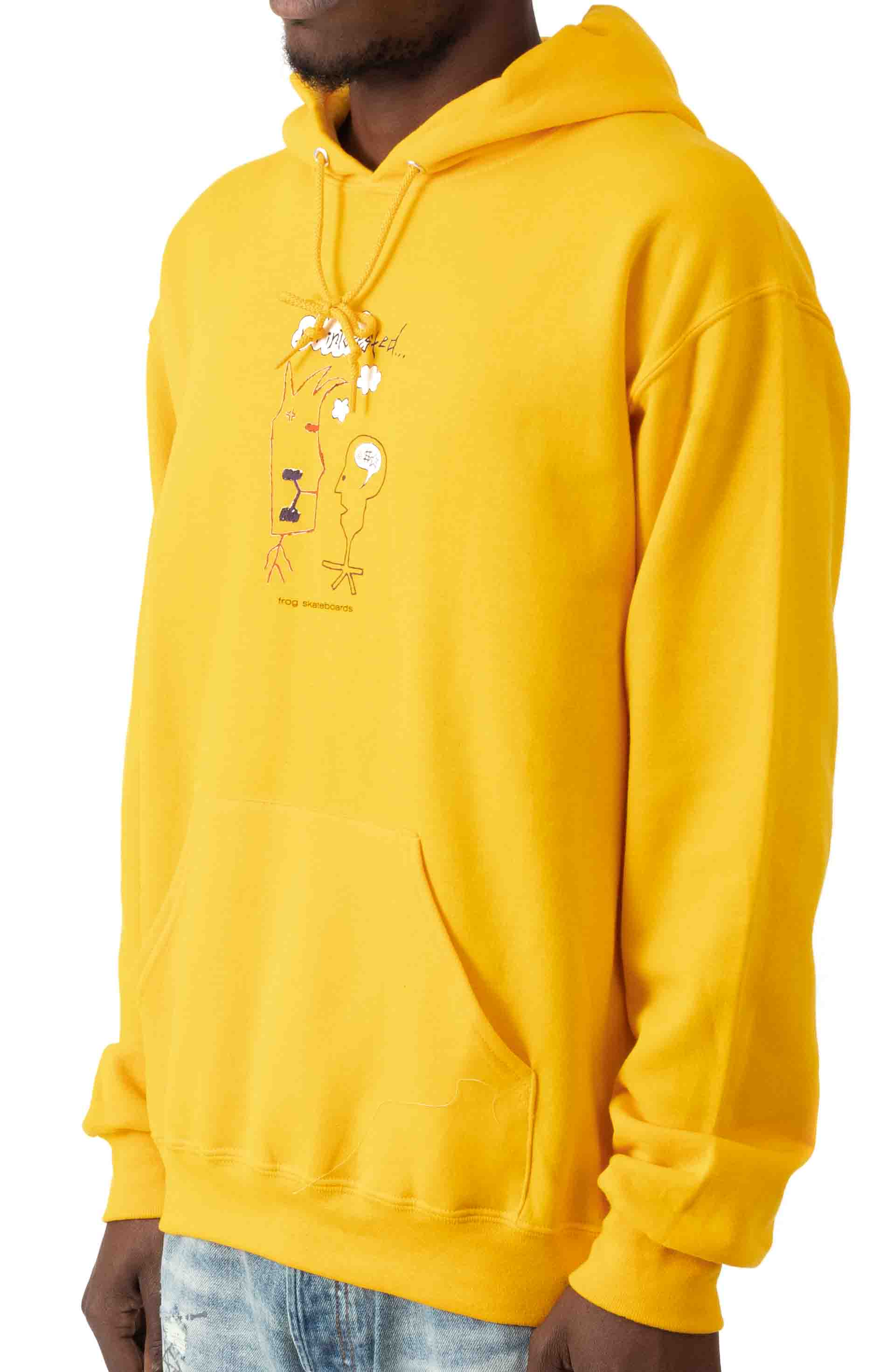 Not Interested Pullover Hoodie - Gold  2