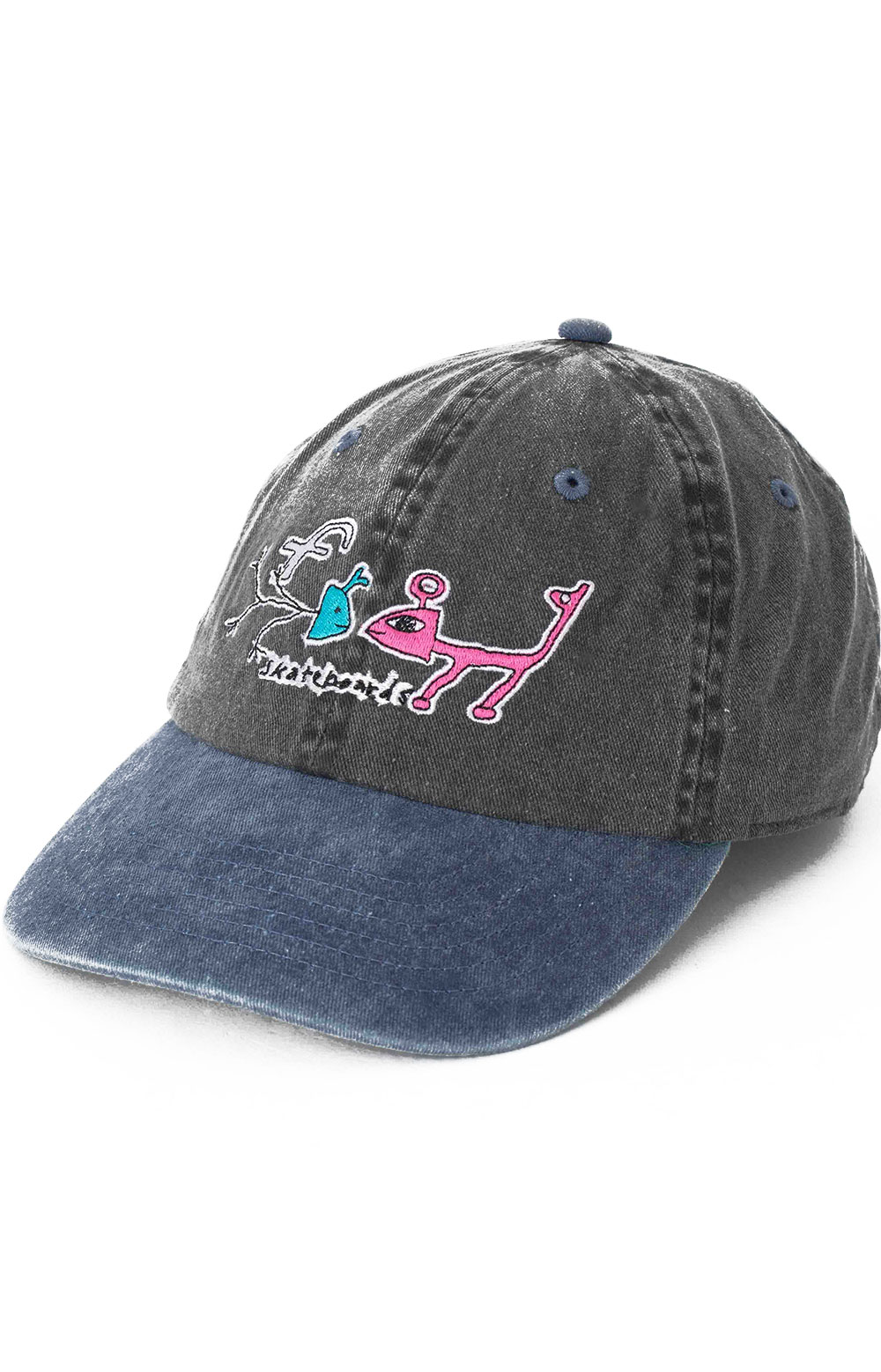 Frog Exists! Dad Hat - Black/Turquoise