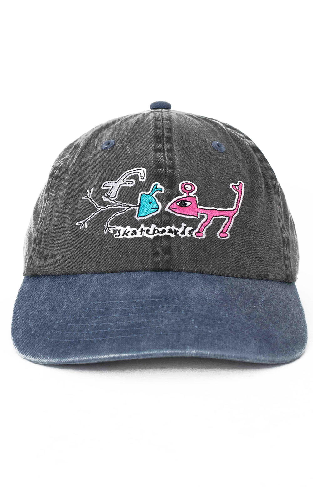 Frog Exists! Dad Hat - Black/Turquoise  2
