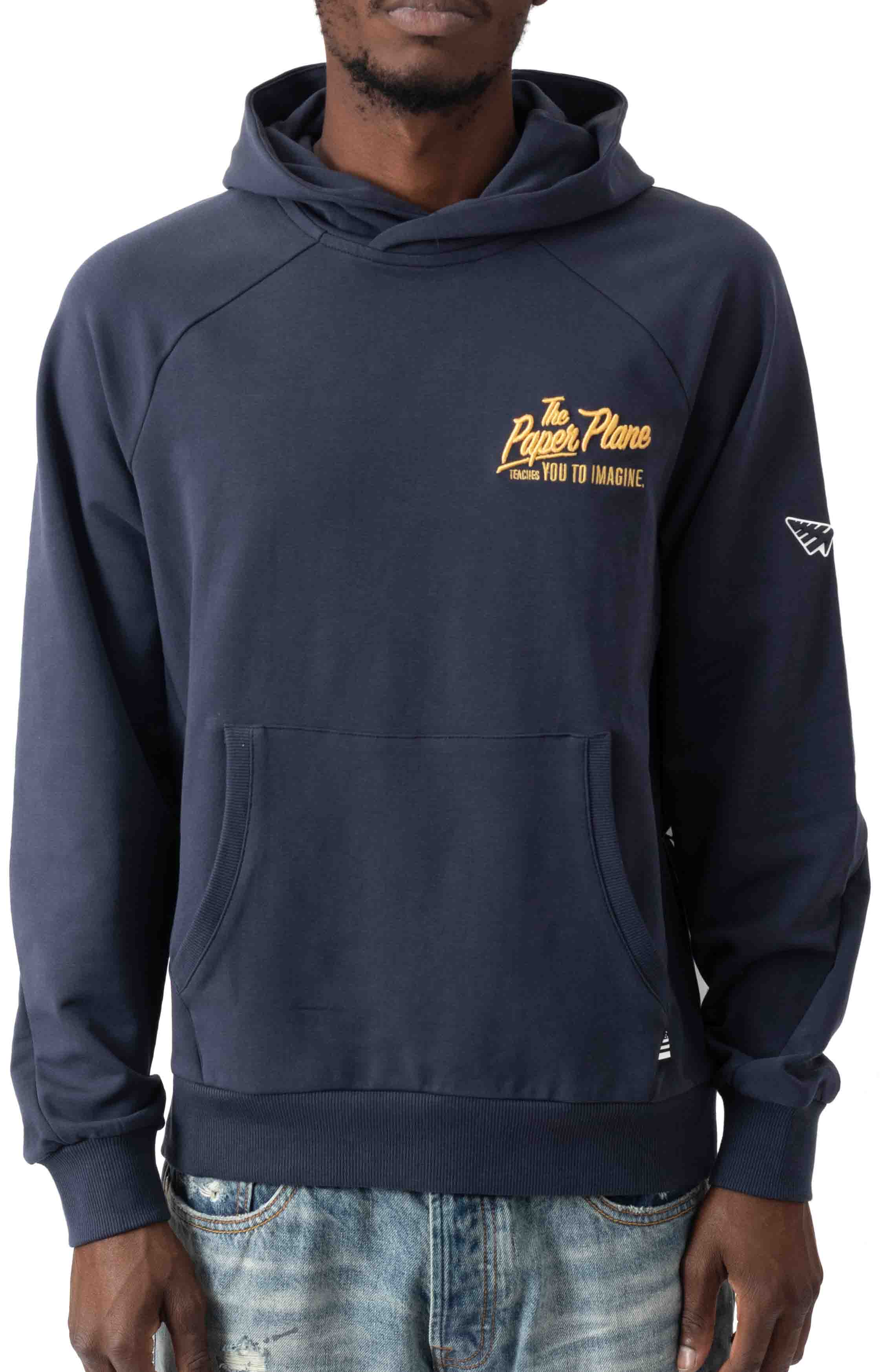 A Plane Story Pullover Hoodie - Sapphire  2