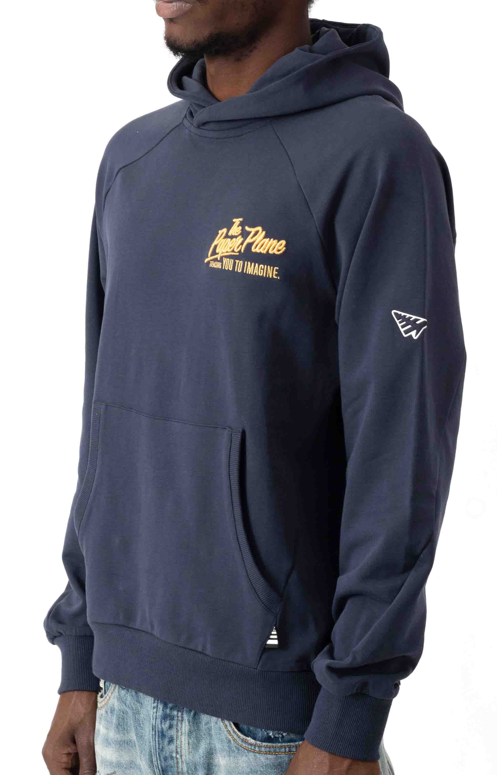 A Plane Story Pullover Hoodie - Sapphire  3