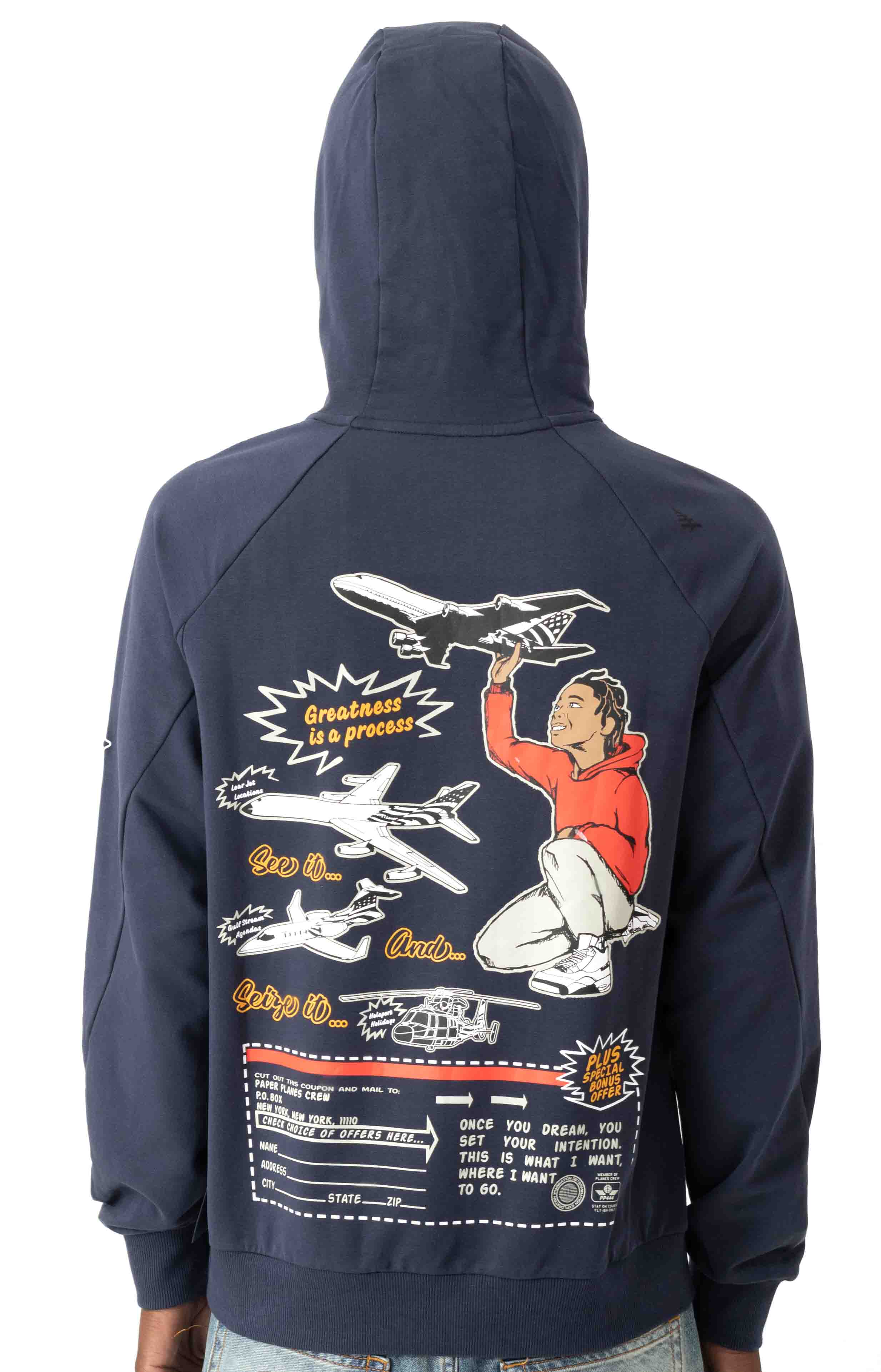 A Plane Story Pullover Hoodie - Sapphire