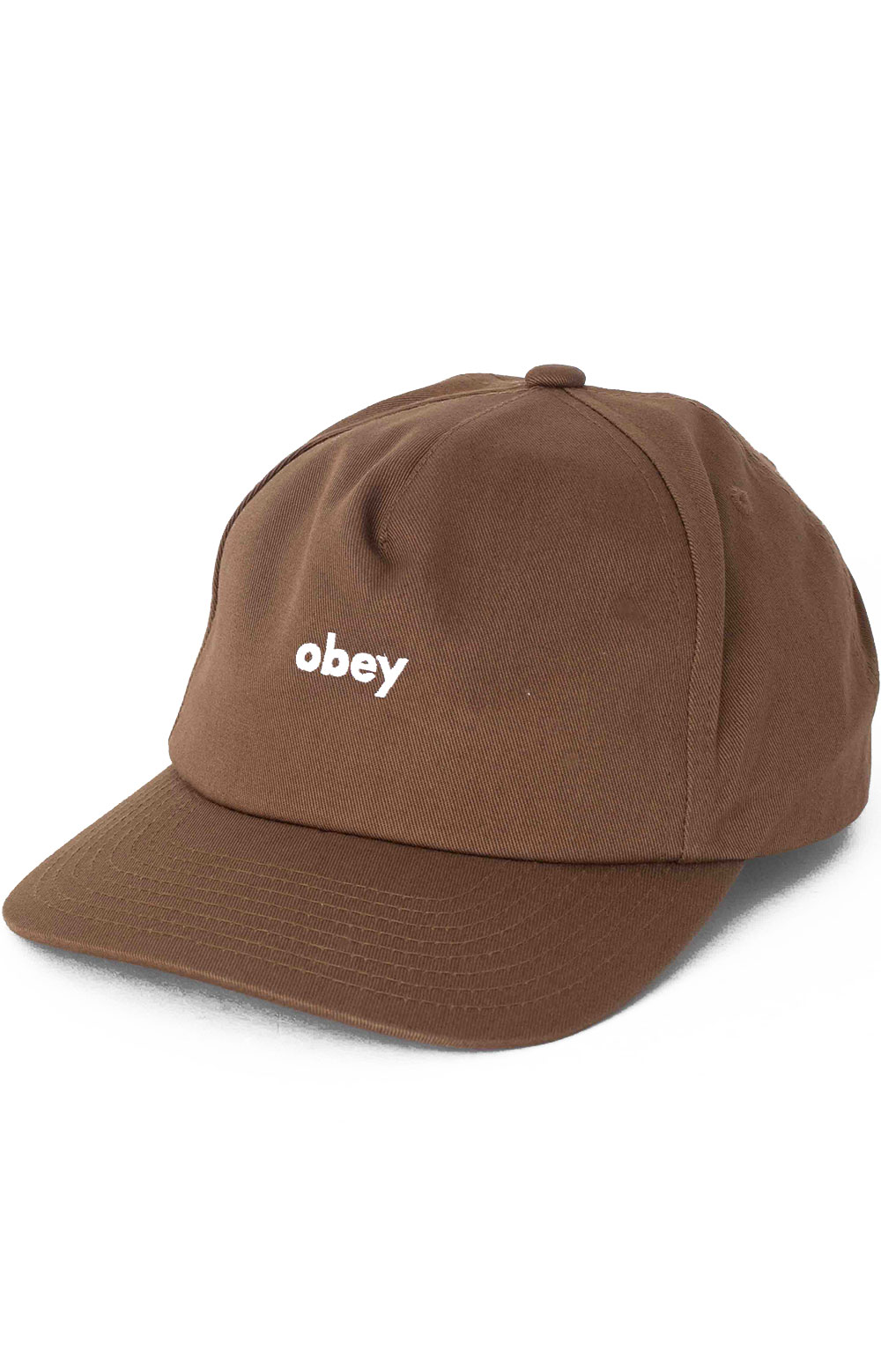 Lowercase Snap-Back Hat - Brown