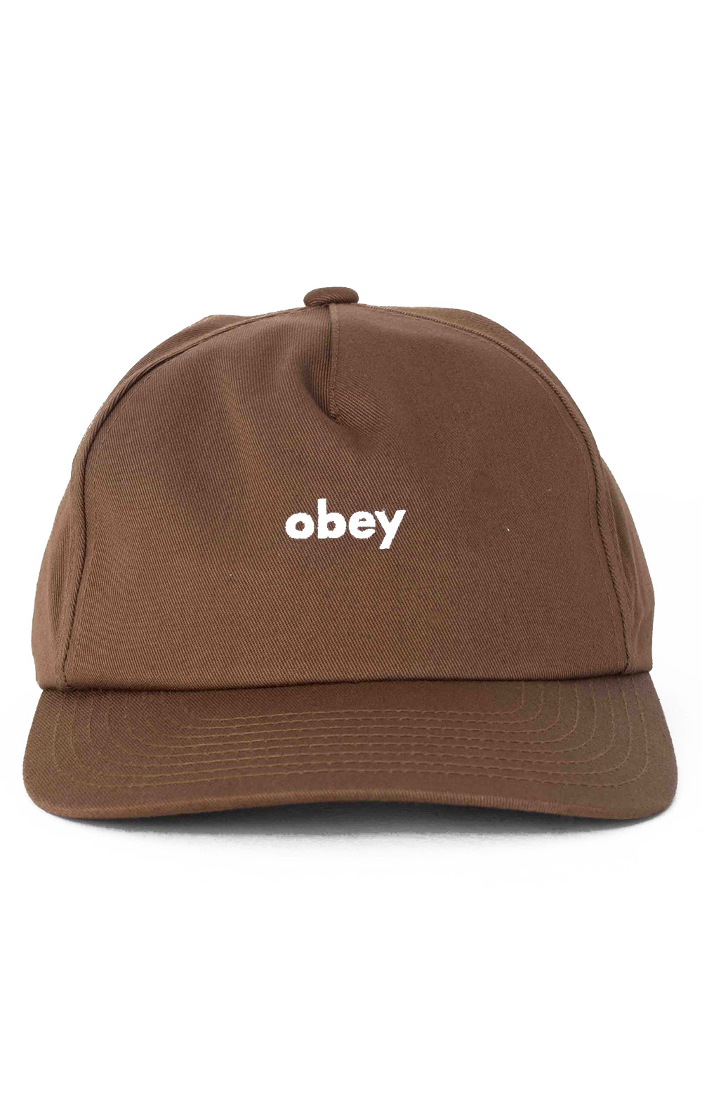 Lowercase Snap-Back Hat - Brown 2