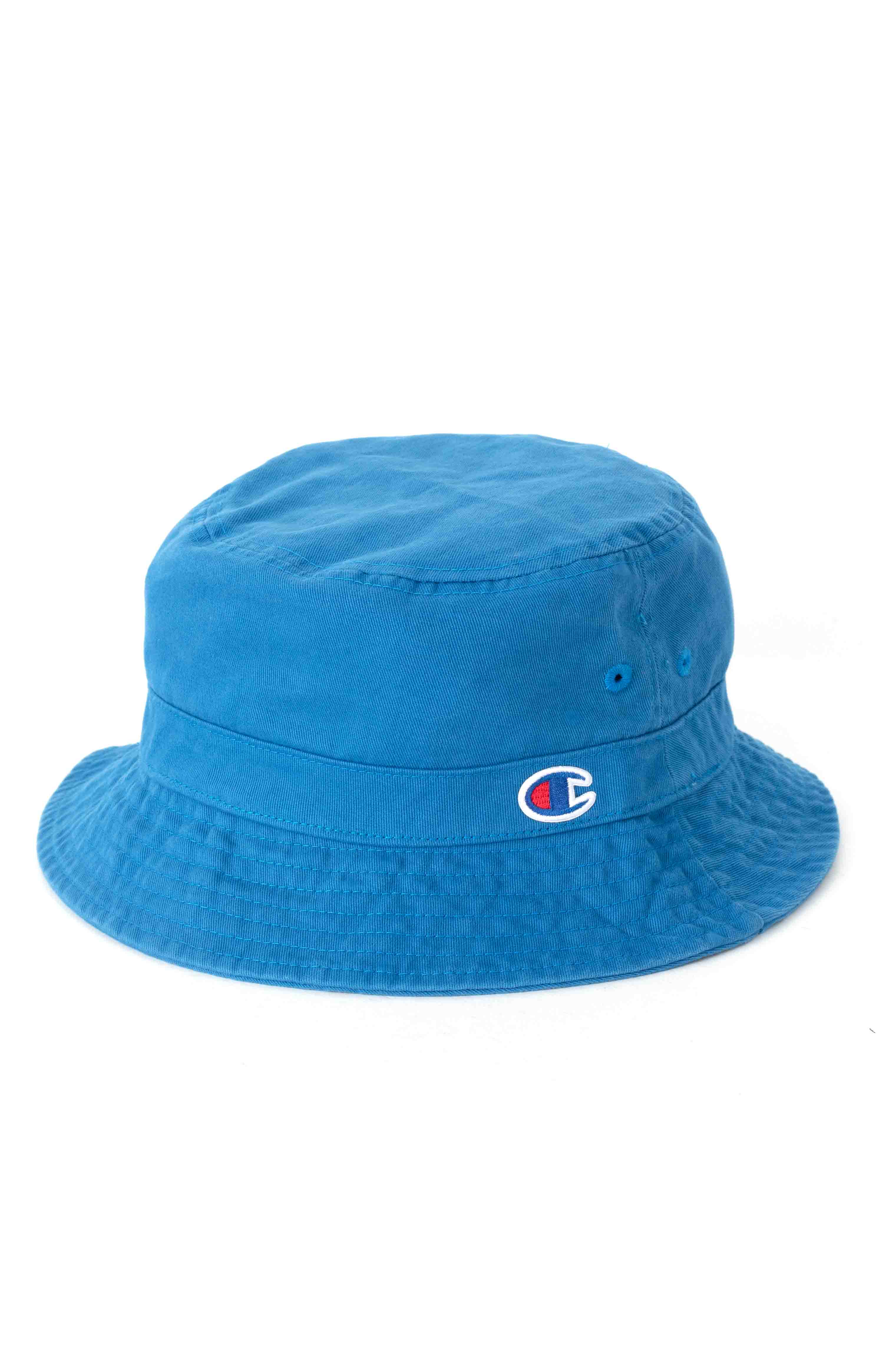 Garment Washed Relaxed Bucket Hat - Living In Blue  2