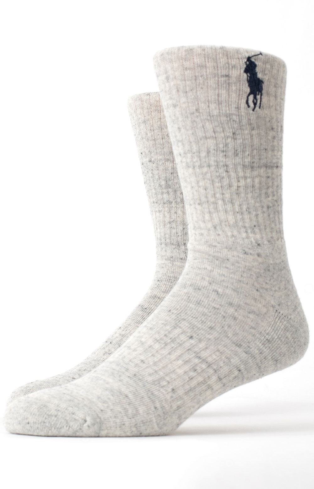 Embroidered Big Pony Crew 3 Pack Socks - Navy Assorted  4