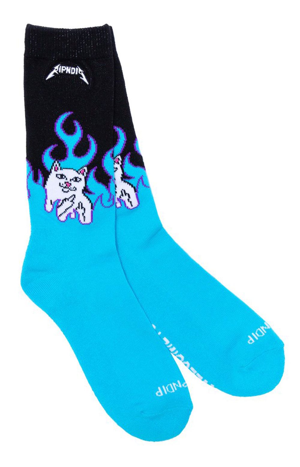 Welcome To Heck Socks - Electric Blue