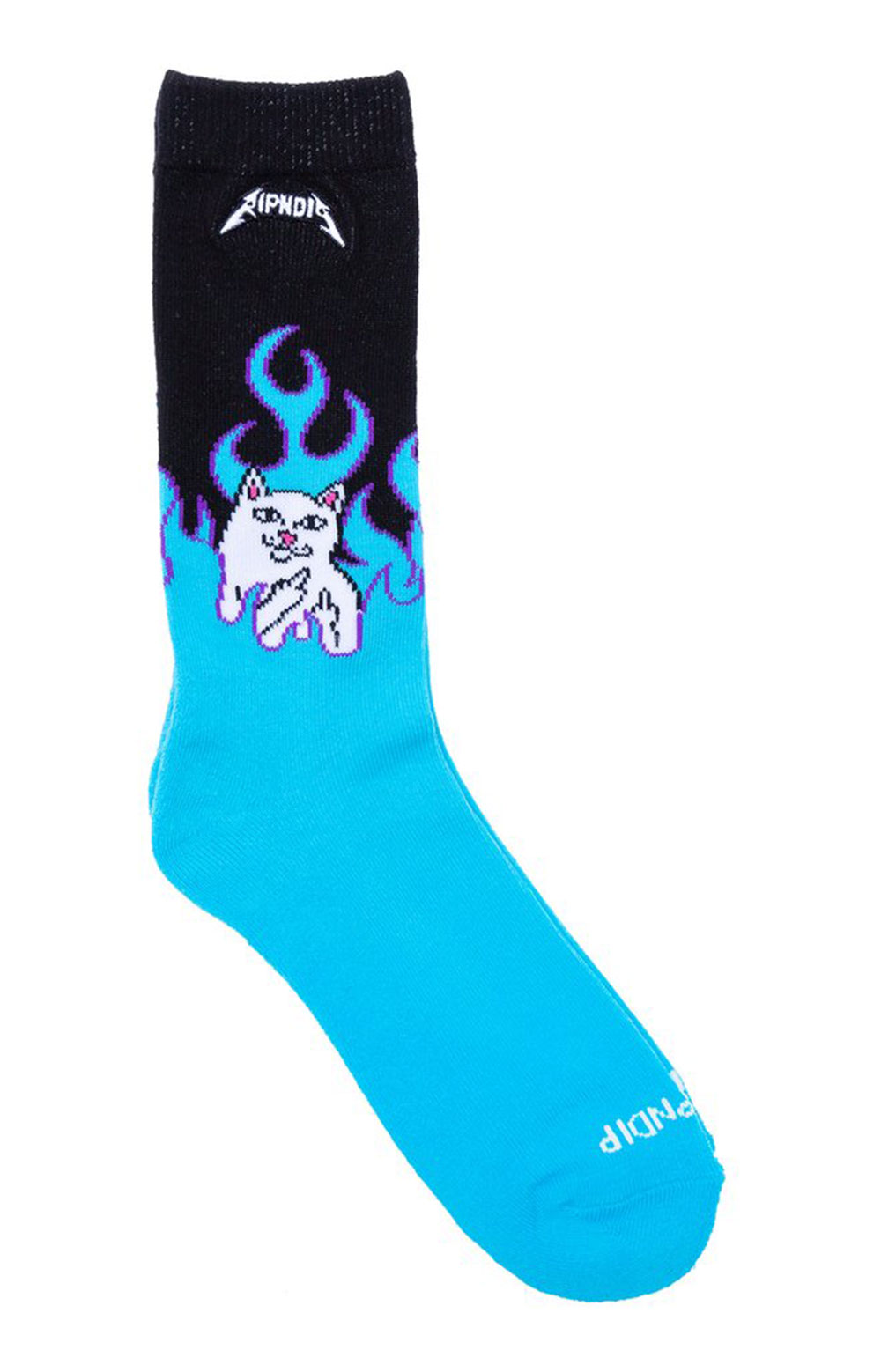 Welcome To Heck Socks - Electric Blue  2