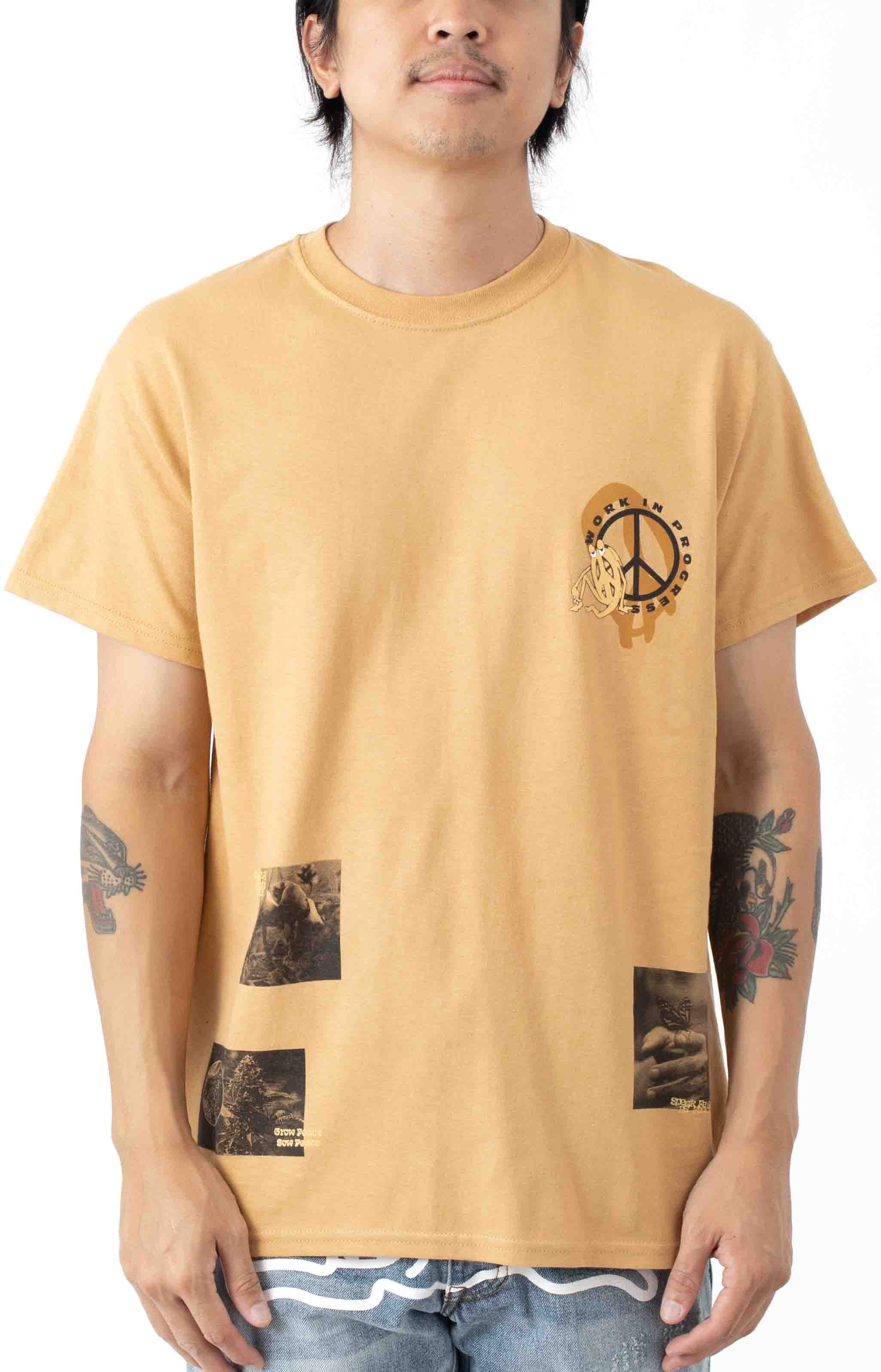 Work In Progress T-Shirt - Old Gold  2