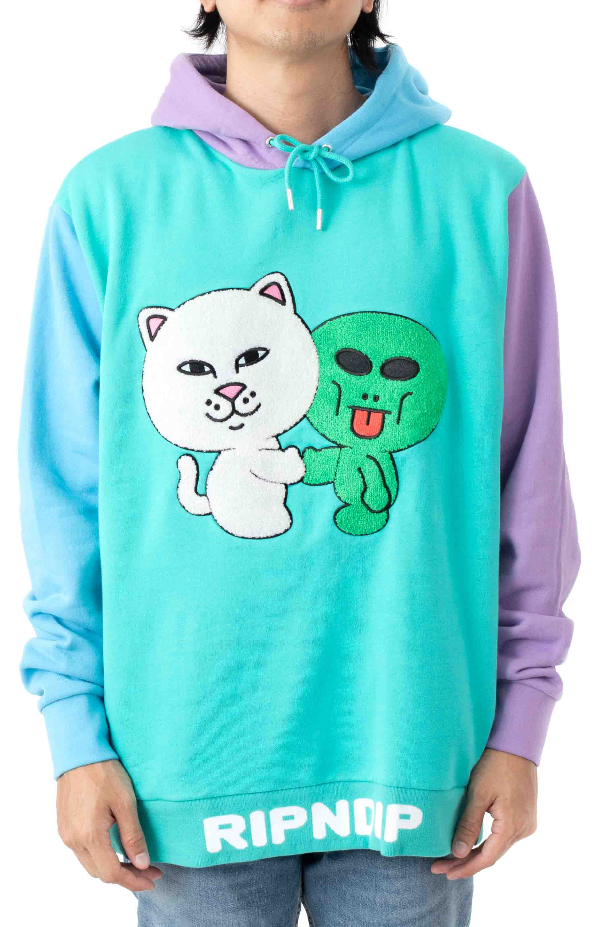 Buddy System Color Block Pullover Hoodie - Multi