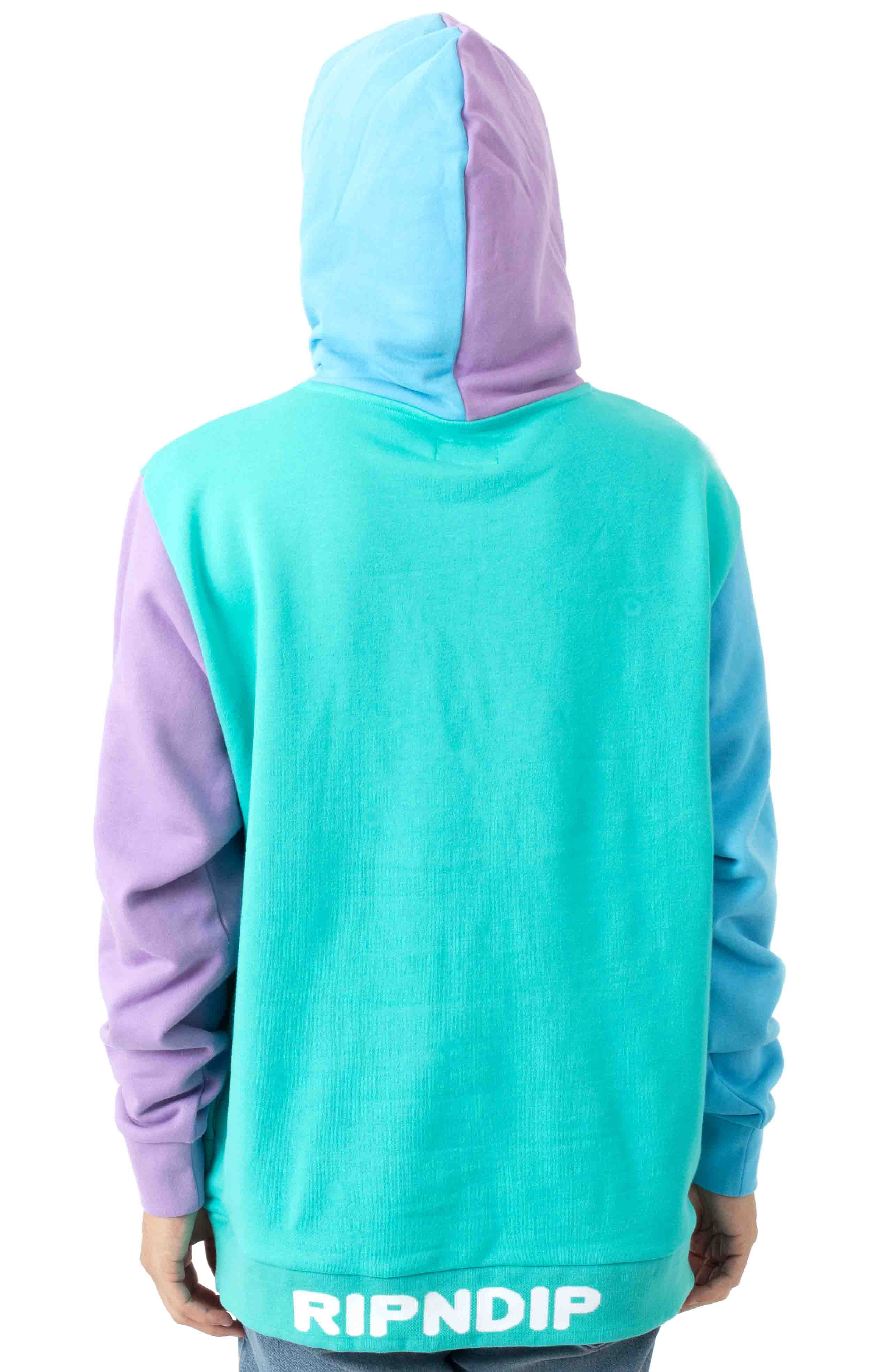 Buddy System Color Block Pullover Hoodie - Multi  3