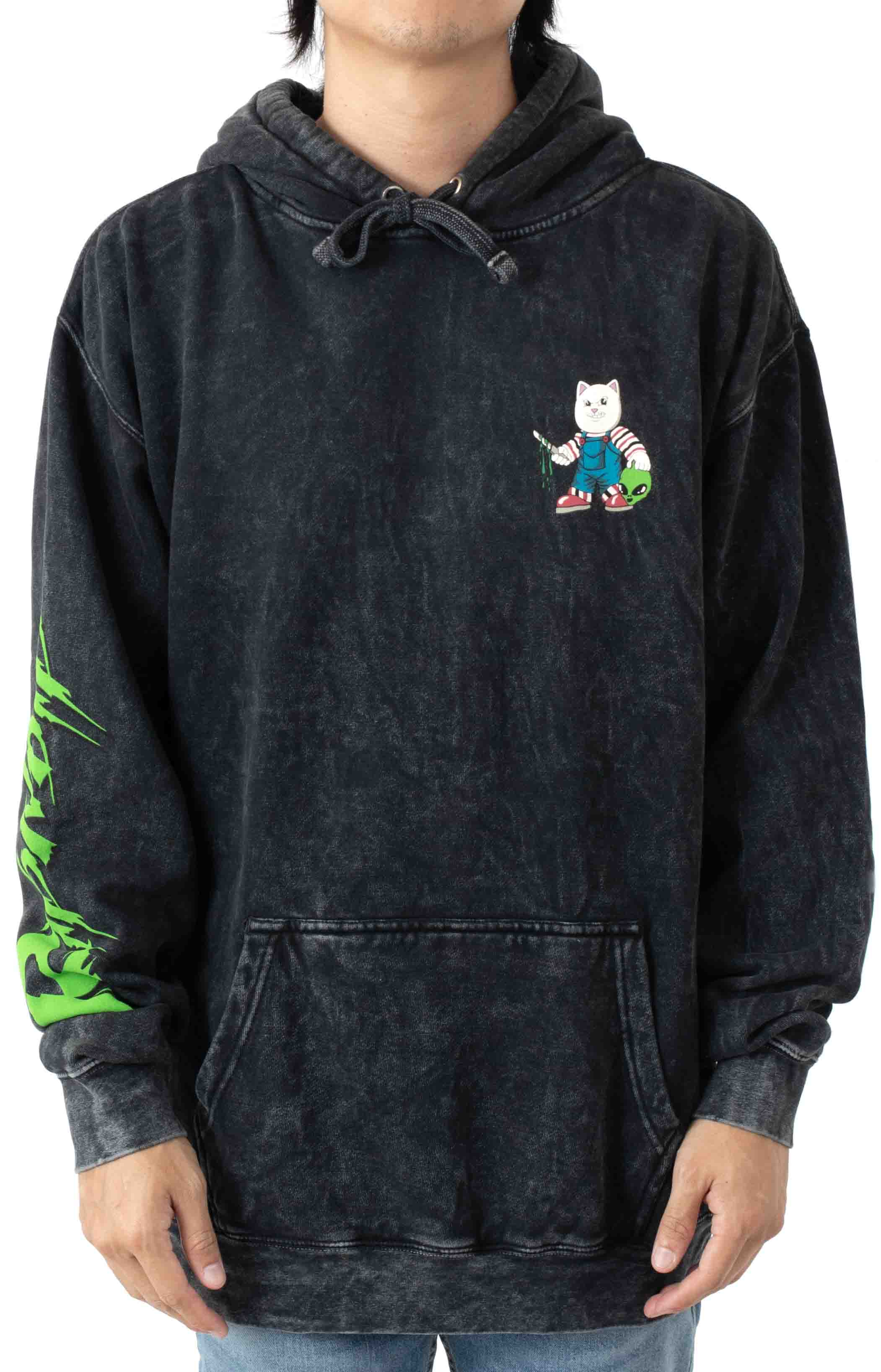 Childs Play Pullover Hoodie - Black Mineral Wash  2