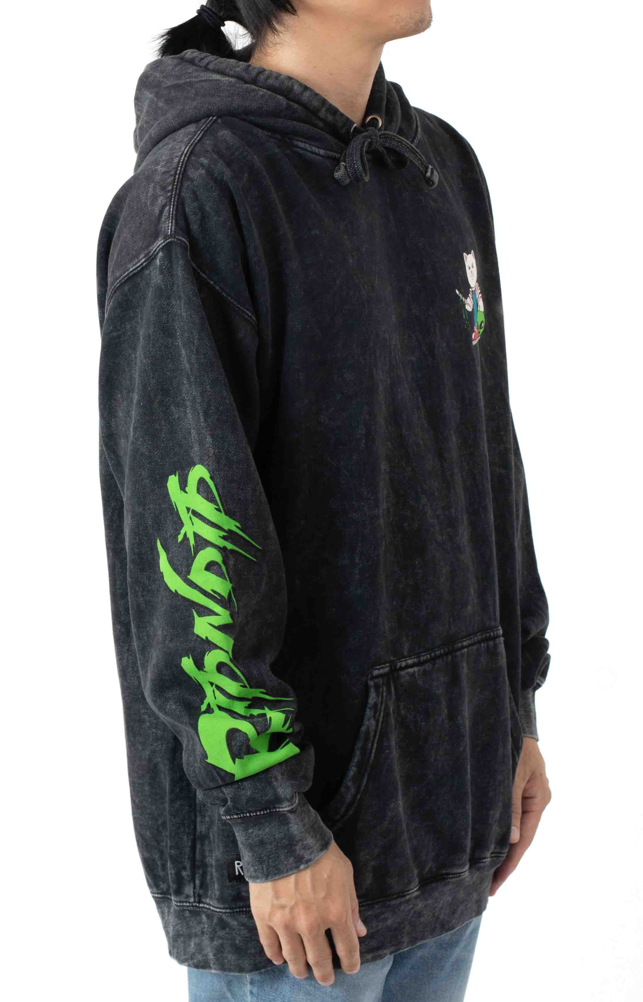 Childs Play Pullover Hoodie - Black Mineral Wash  3