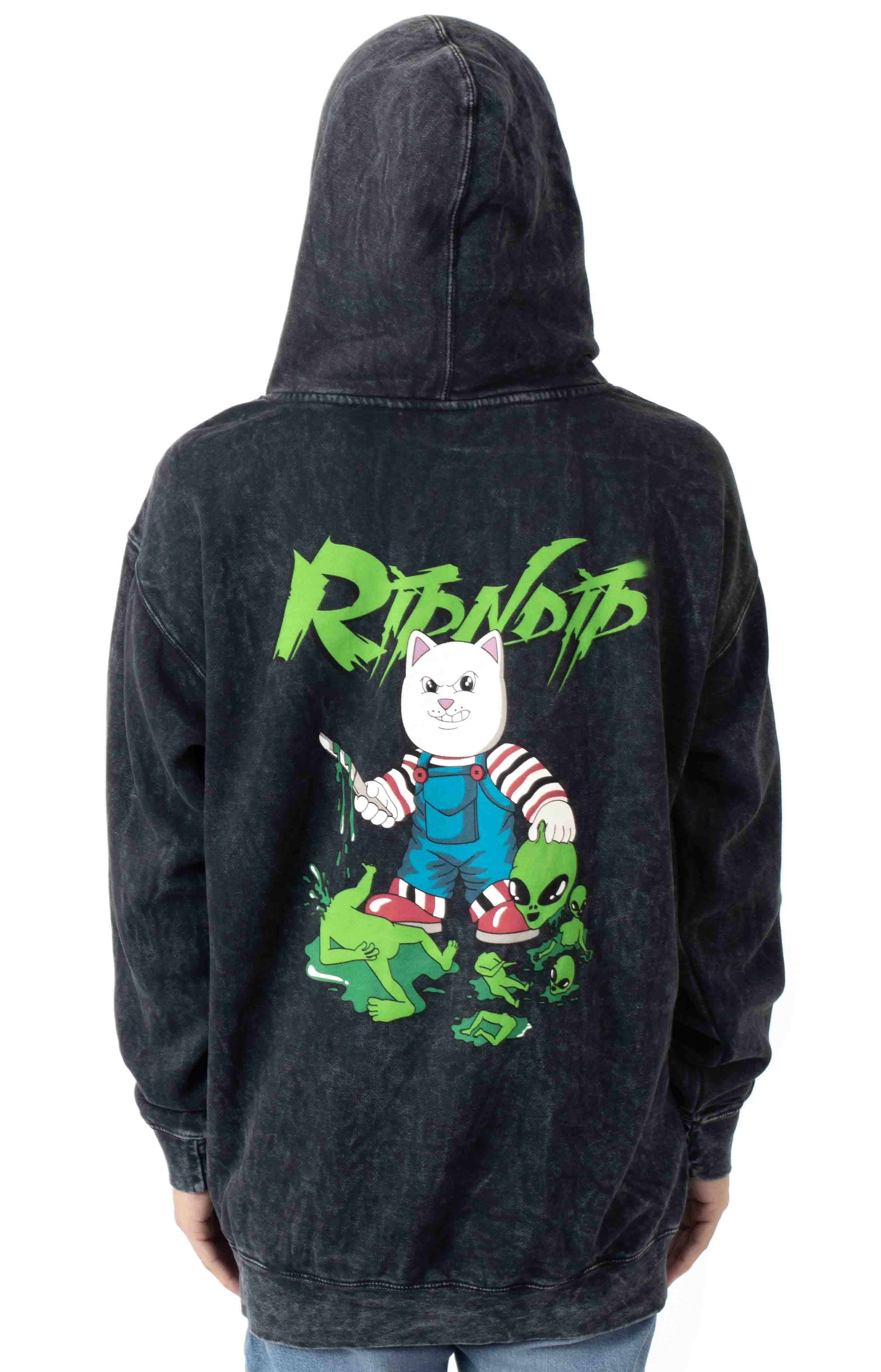 Childs Play Pullover Hoodie - Black Mineral Wash