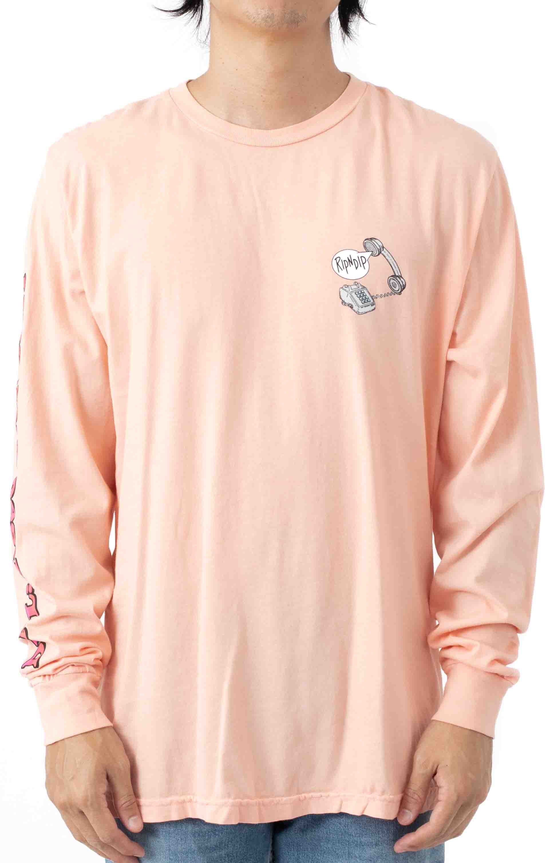 Hows My Attitude L/S Shirt - Dusty Rose  2
