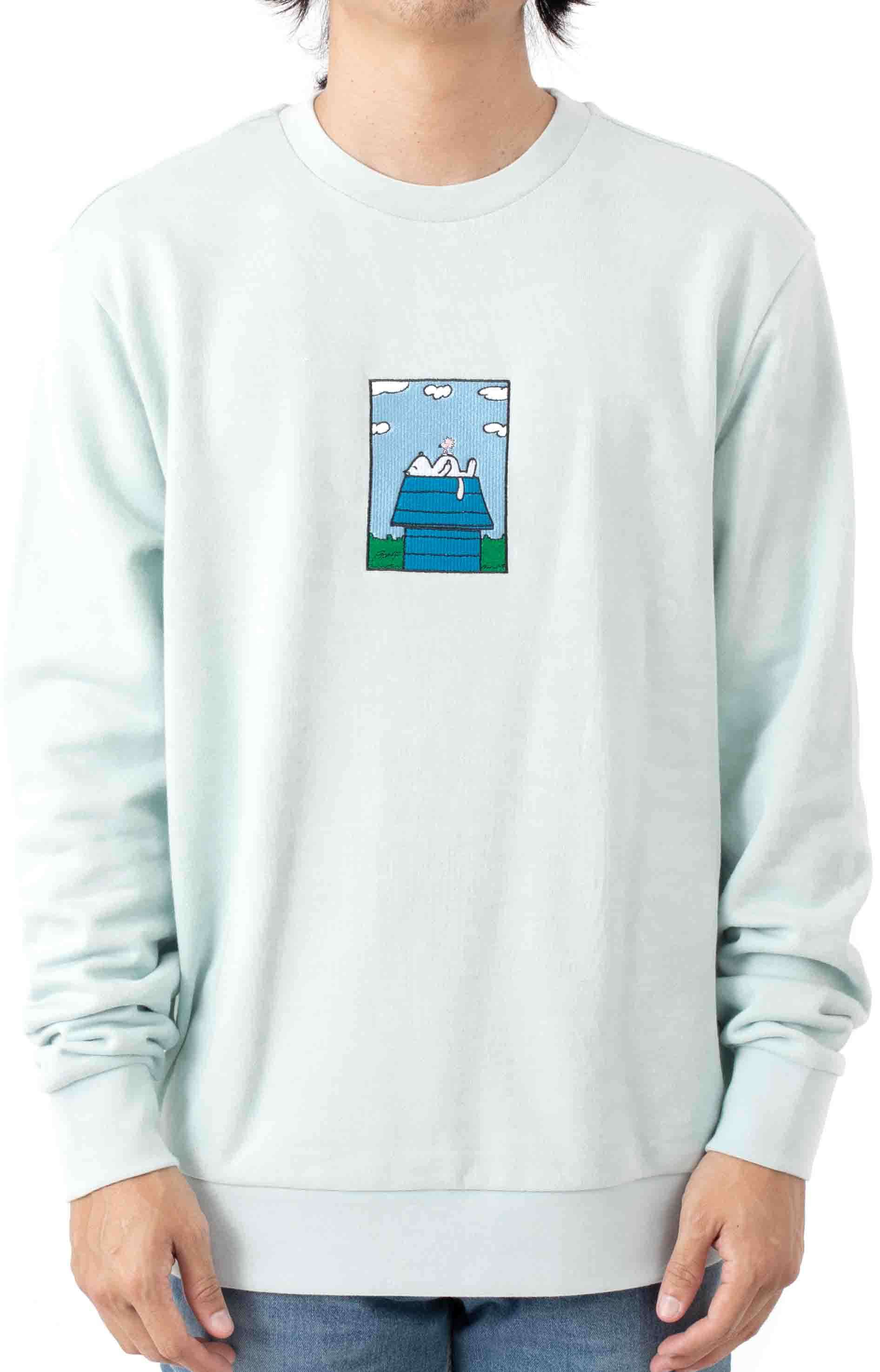 Not Today Embroidered Crewneck - Light Blue