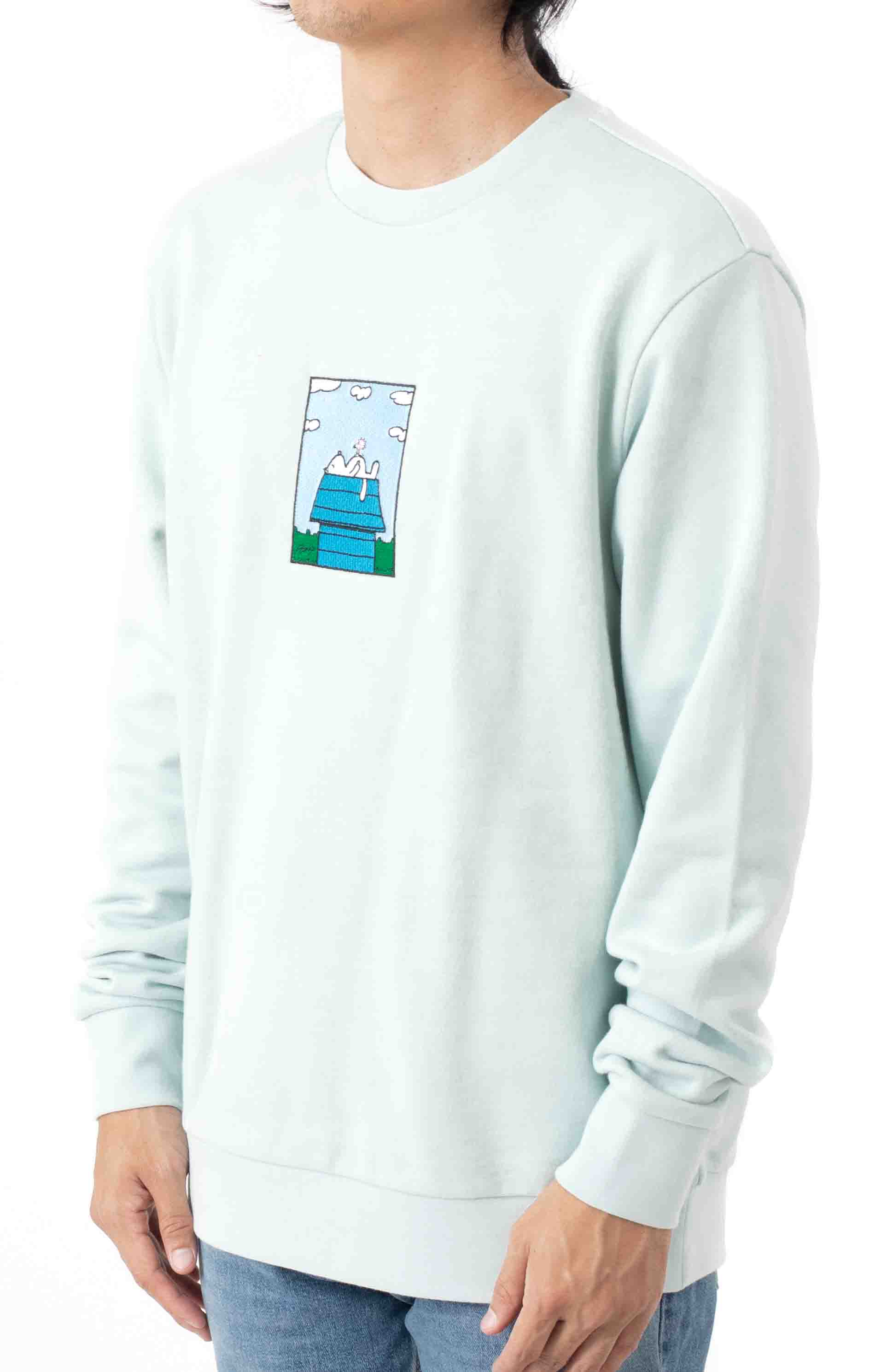 Not Today Embroidered Crewneck - Light Blue  2