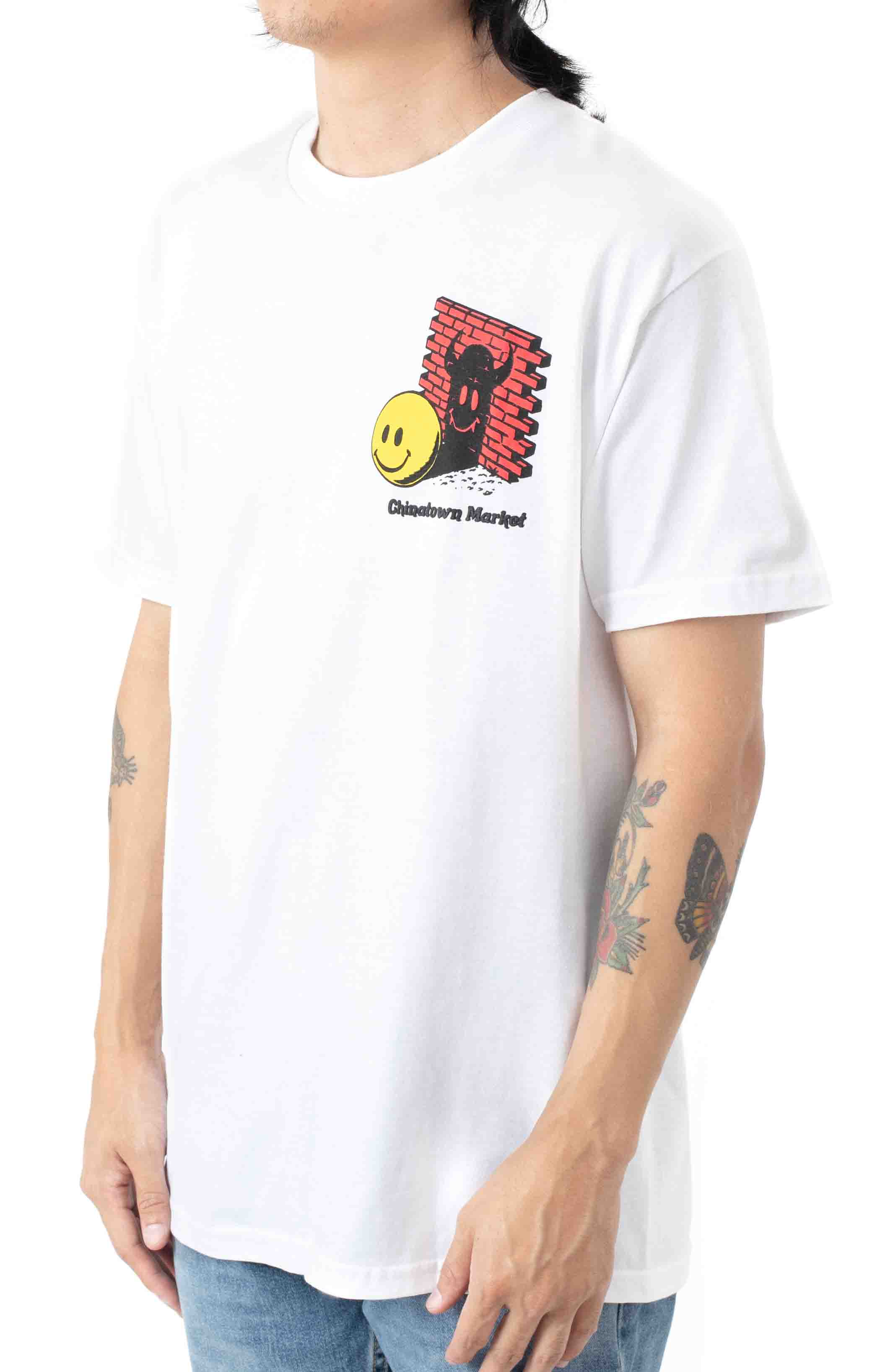 Smiley Find the Light T-Shirt - White  3