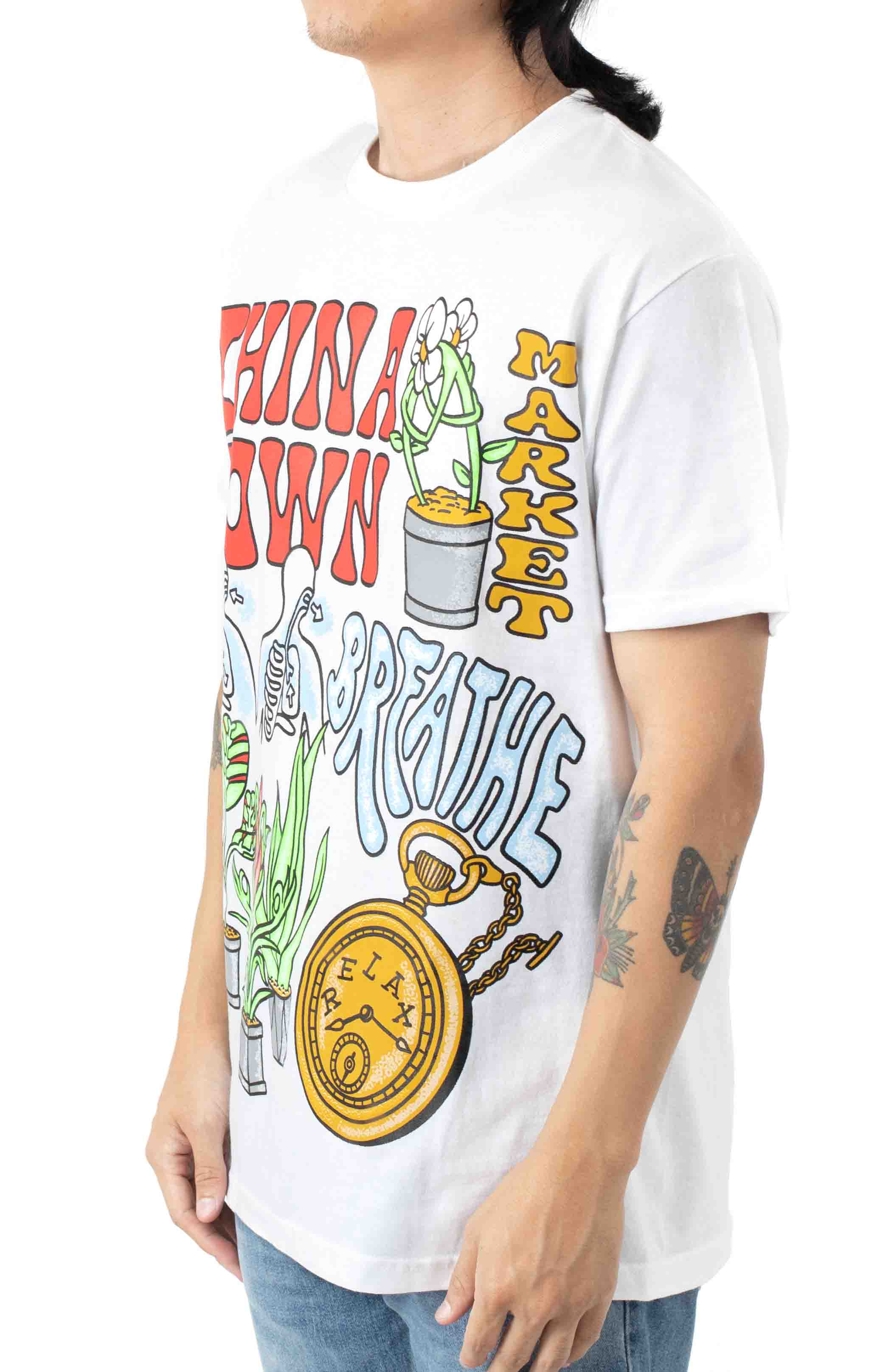 Chinatown Time Lord T-Shirt - White  2