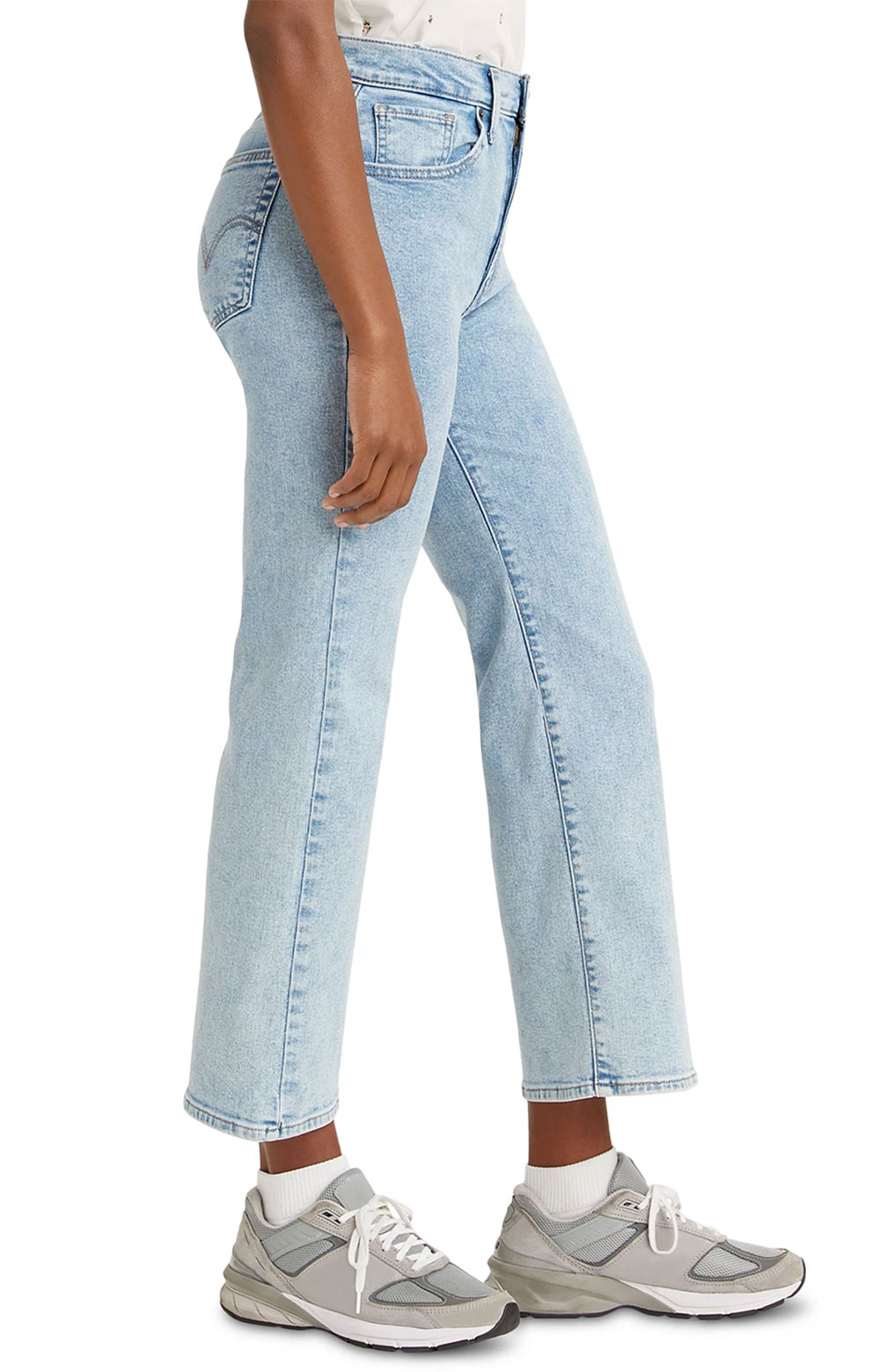 (A0967-0001) High Rise Cropped Flare Jeans - High Light/Light Wash  2